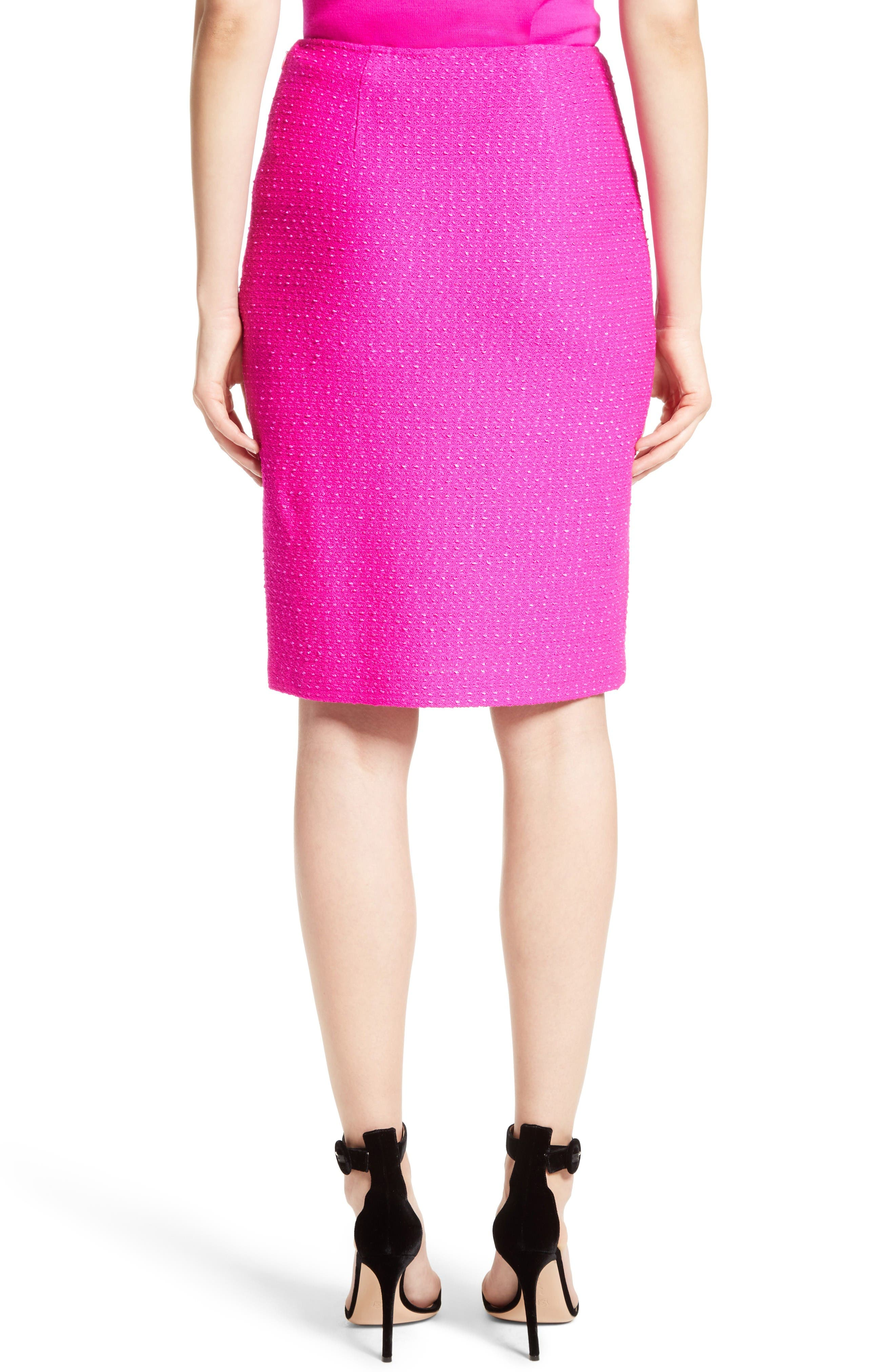 Alternate Image 2  - St. John Collection Ribbon Texture Knit Skirt