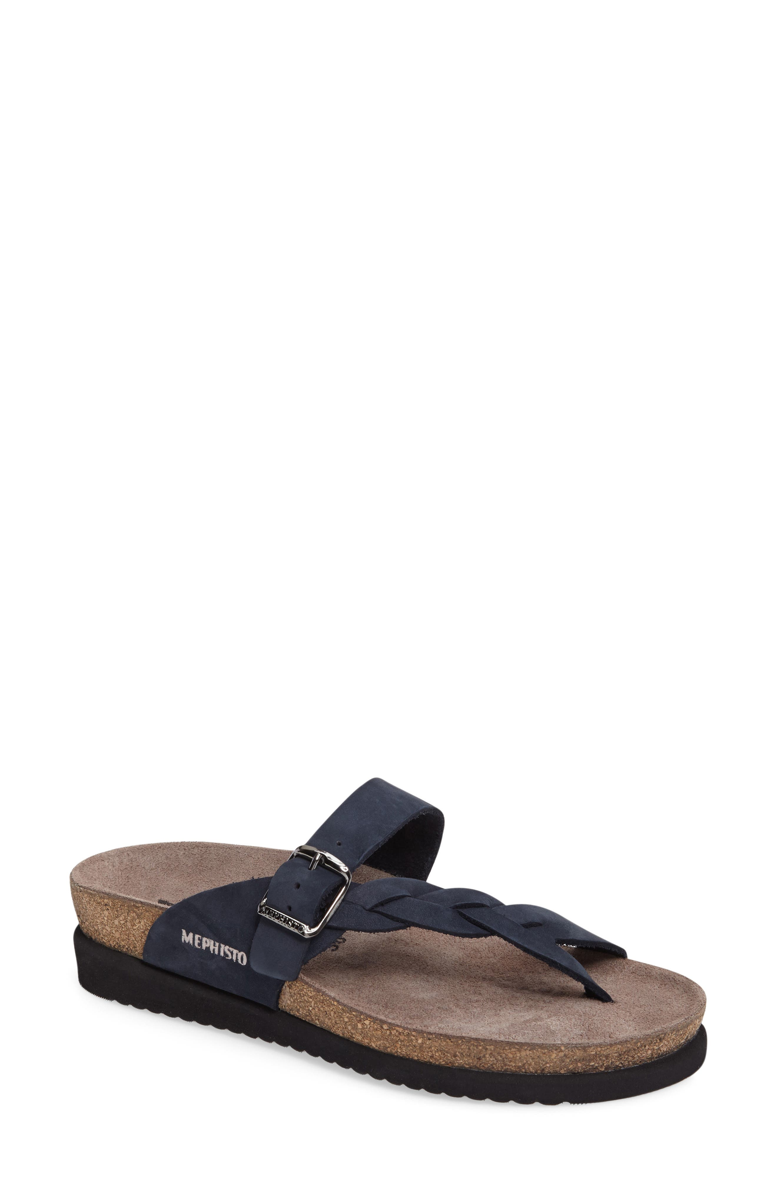 Mephisto 'Helen Twist' Nubuck Leather Sandal (Women)