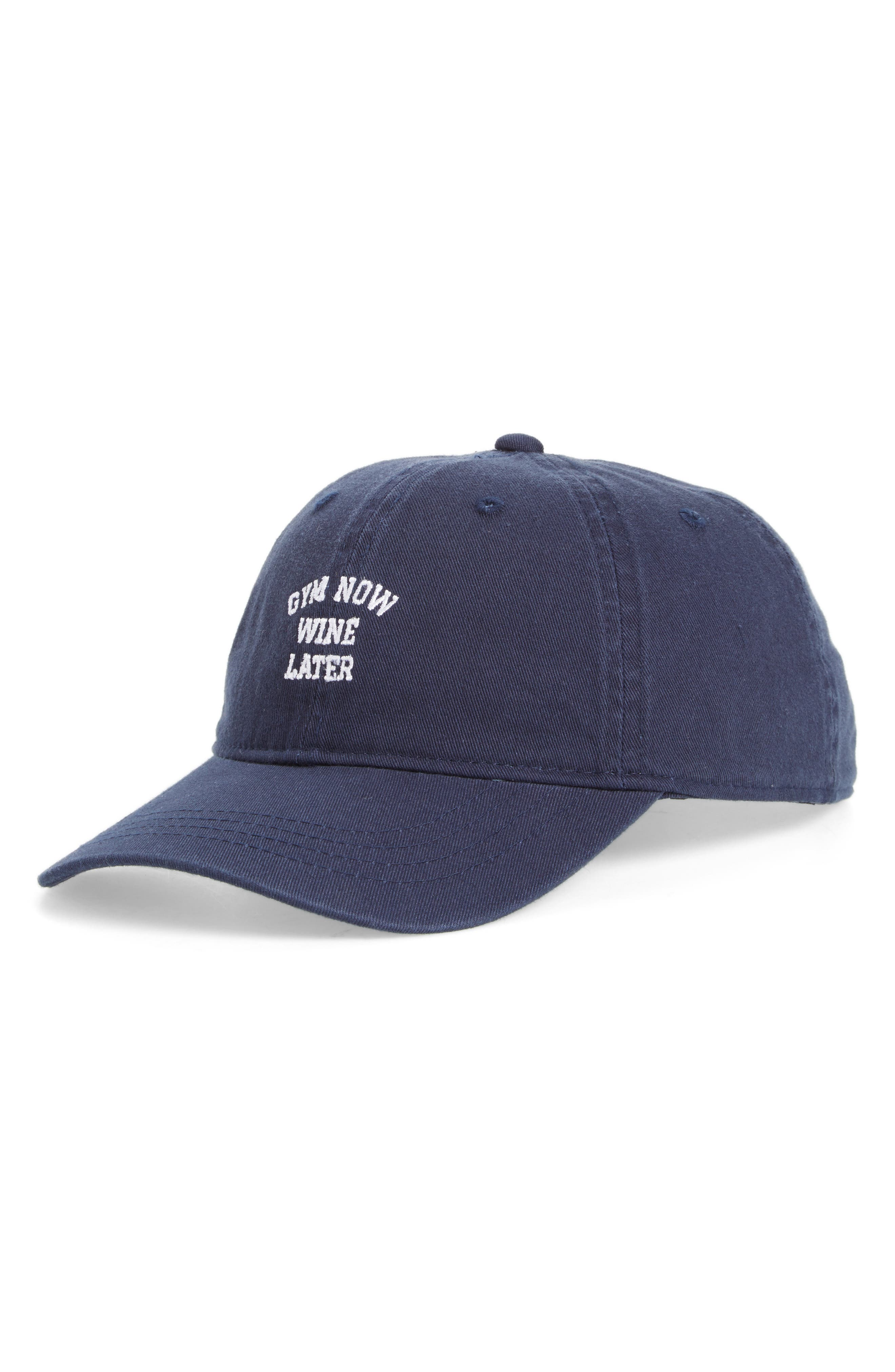 BODY RAGS CLOTHING CO. Gym Now Wine Later Baseball Cap