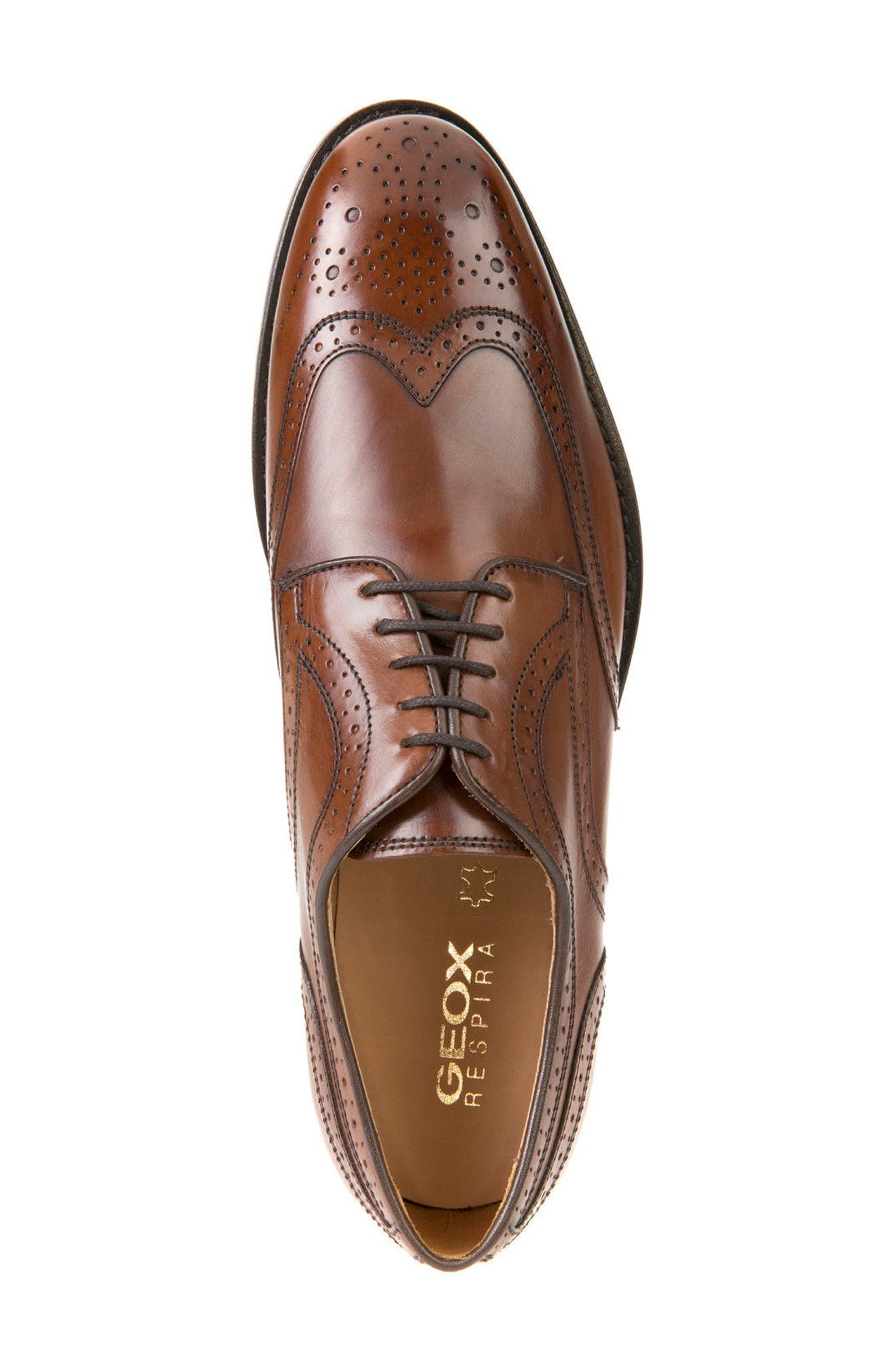 Hampstead 5 Wingtip,                             Alternate thumbnail 3, color,                             Dark Cognac Leather