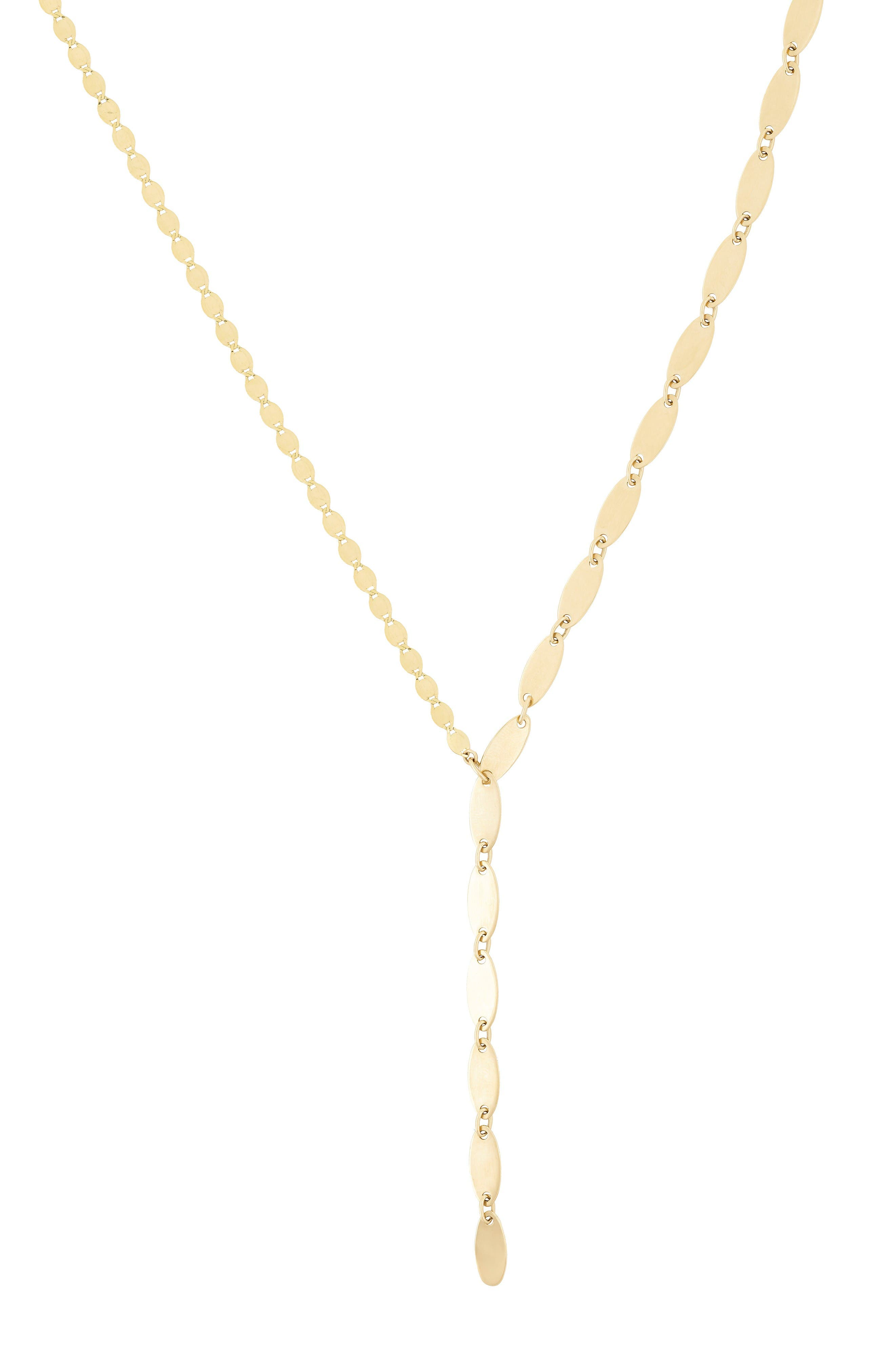 LANA JEWELRY Bond Lariat Necklace