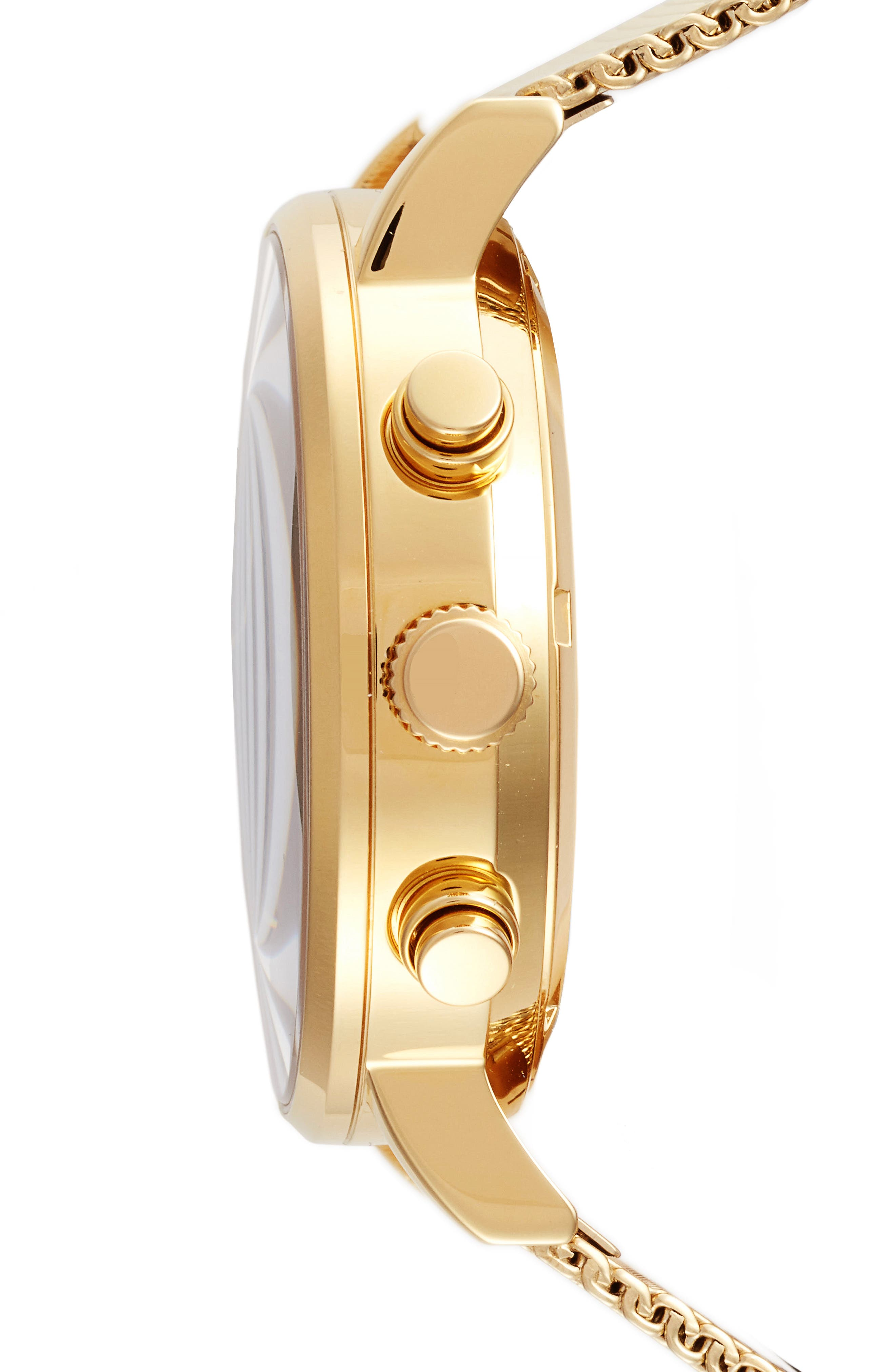 2.0 Chronograph Mesh Strap Watch, 40mm,                             Alternate thumbnail 3, color,                             Gold/ Black