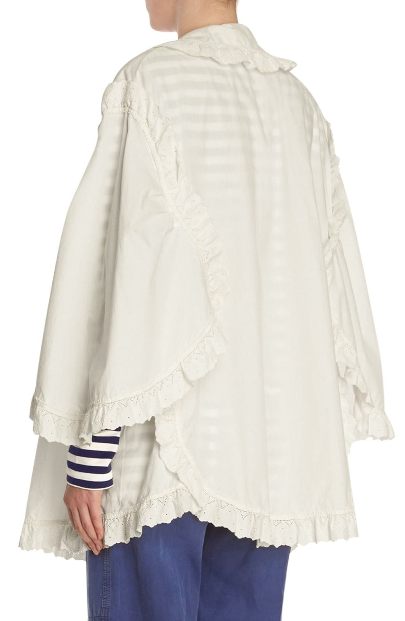 Alternate Image 4  - Burberry Ruffle Blouse