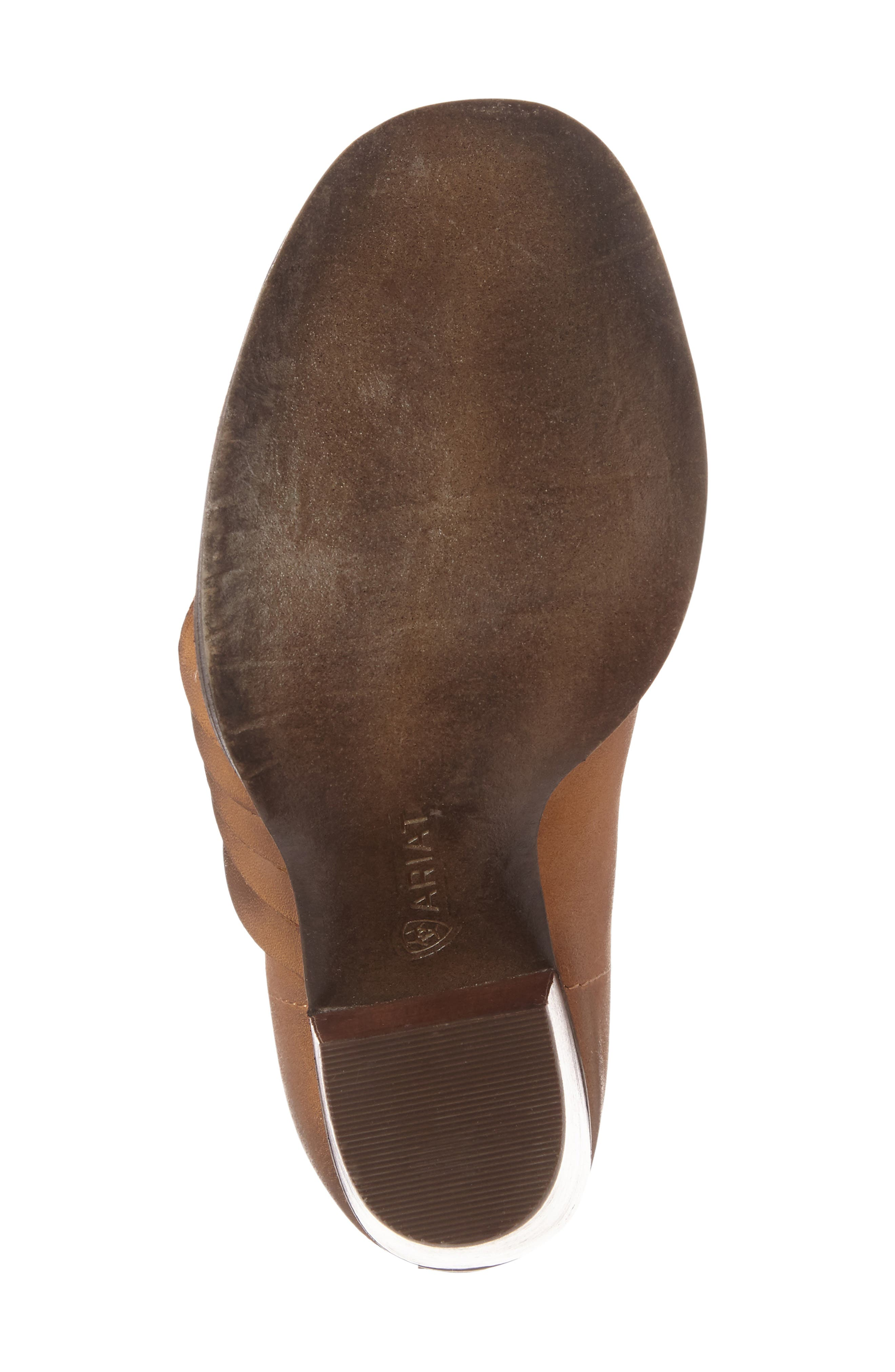 Lindsley Peep Toe Bootie,                             Alternate thumbnail 4, color,                             Tennessee Tan Leather