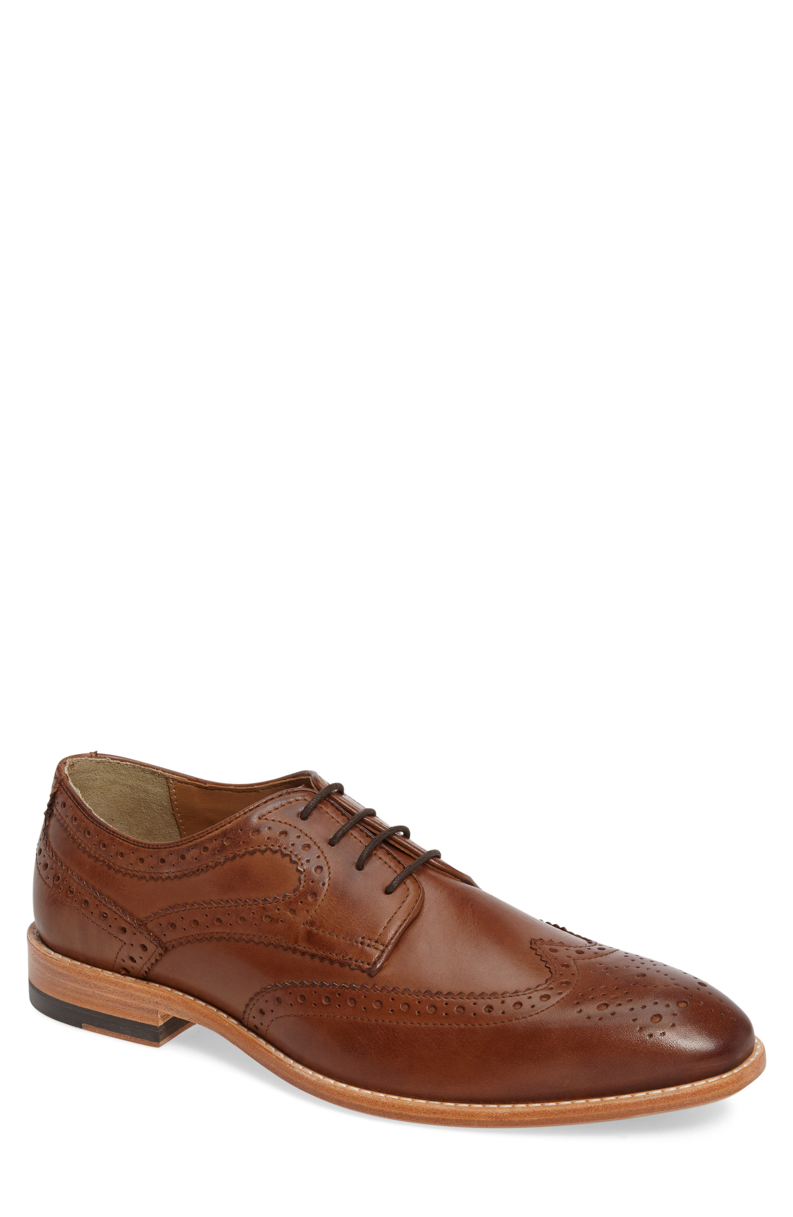 Vance Wingtip Oxford,                         Main,                         color, Tan Leather