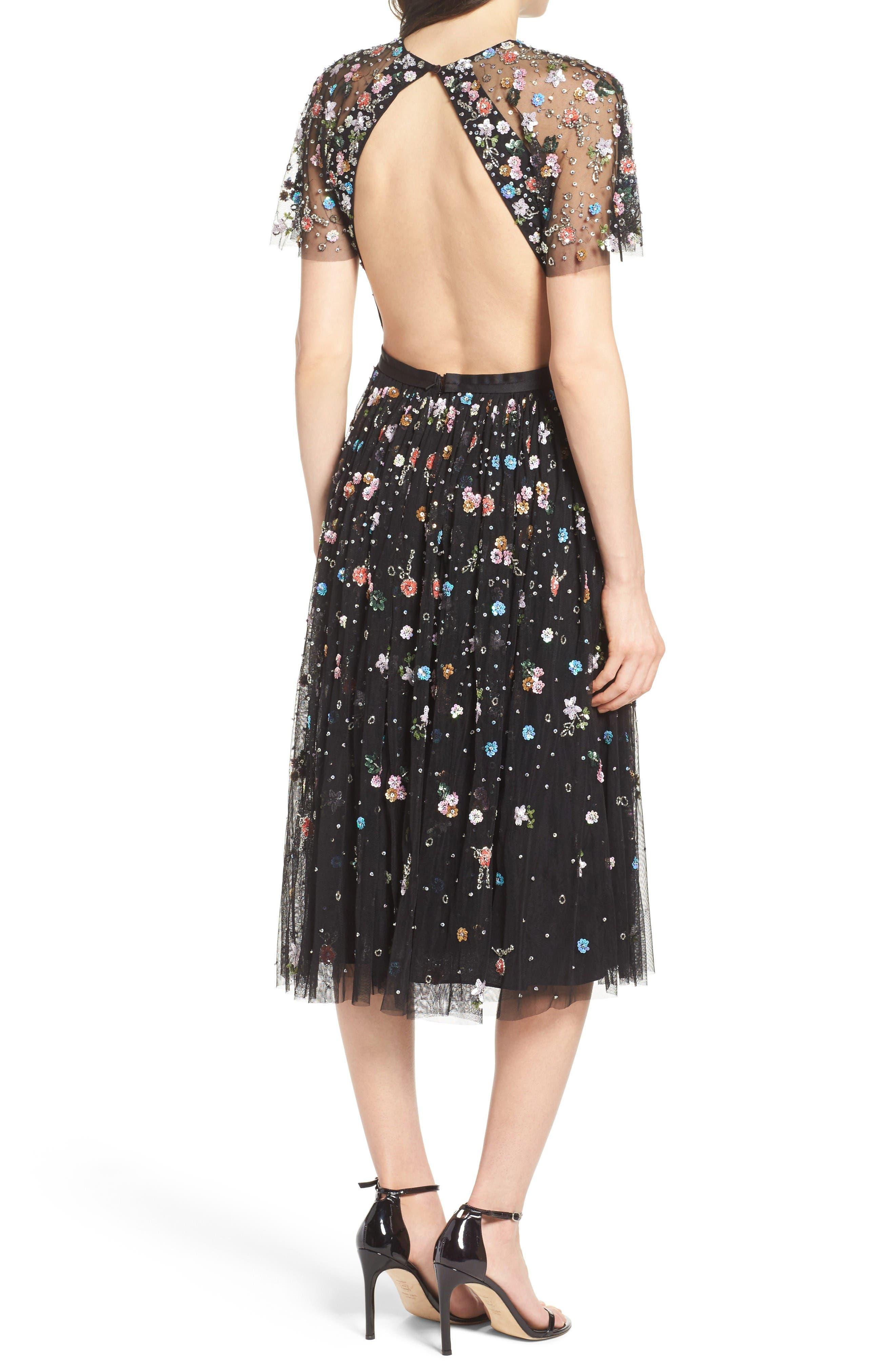 Alternate Image 2  - Needle & Thread Starburst Midi Dress