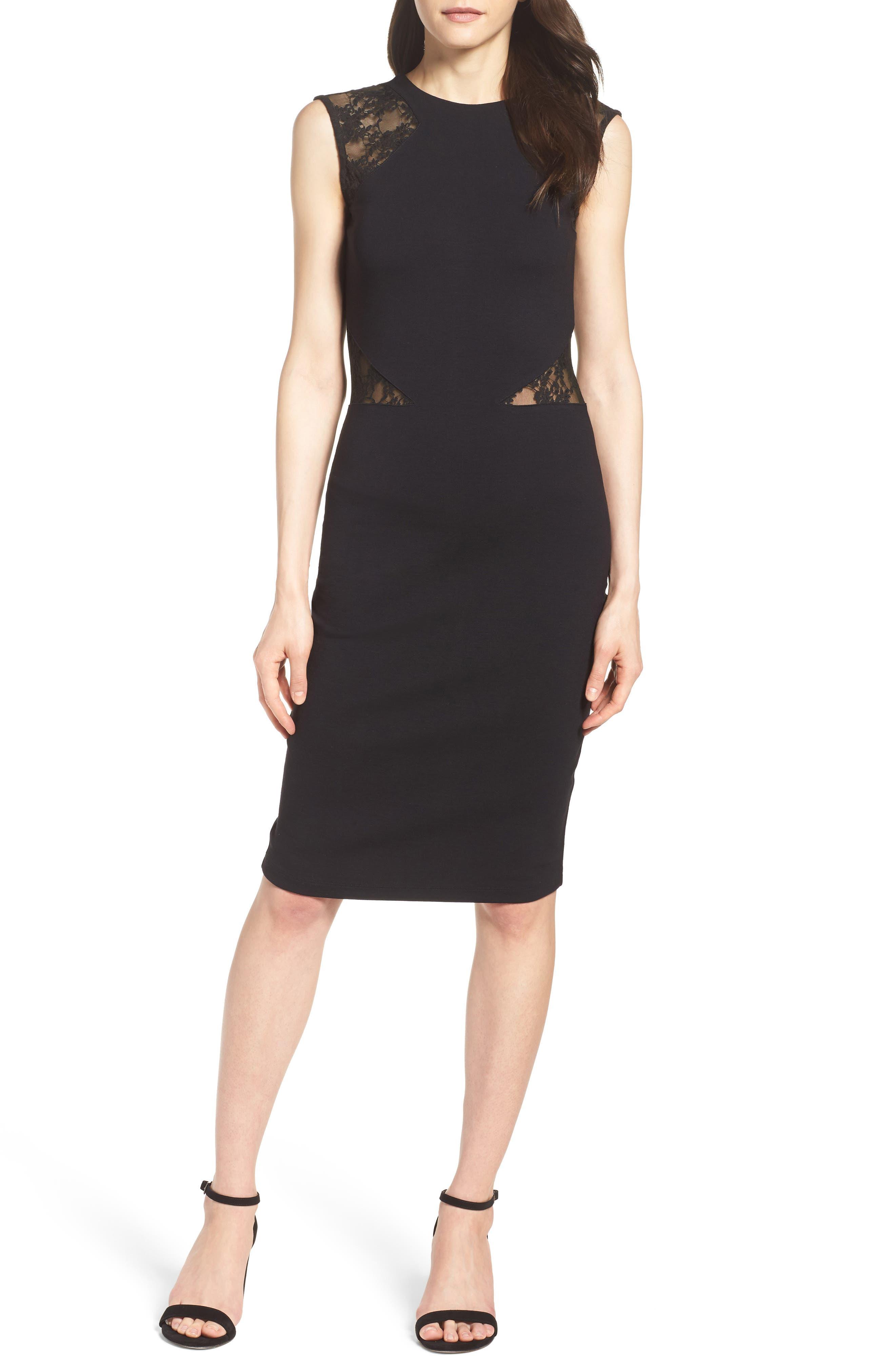 Viven Dress,                         Main,                         color, Black