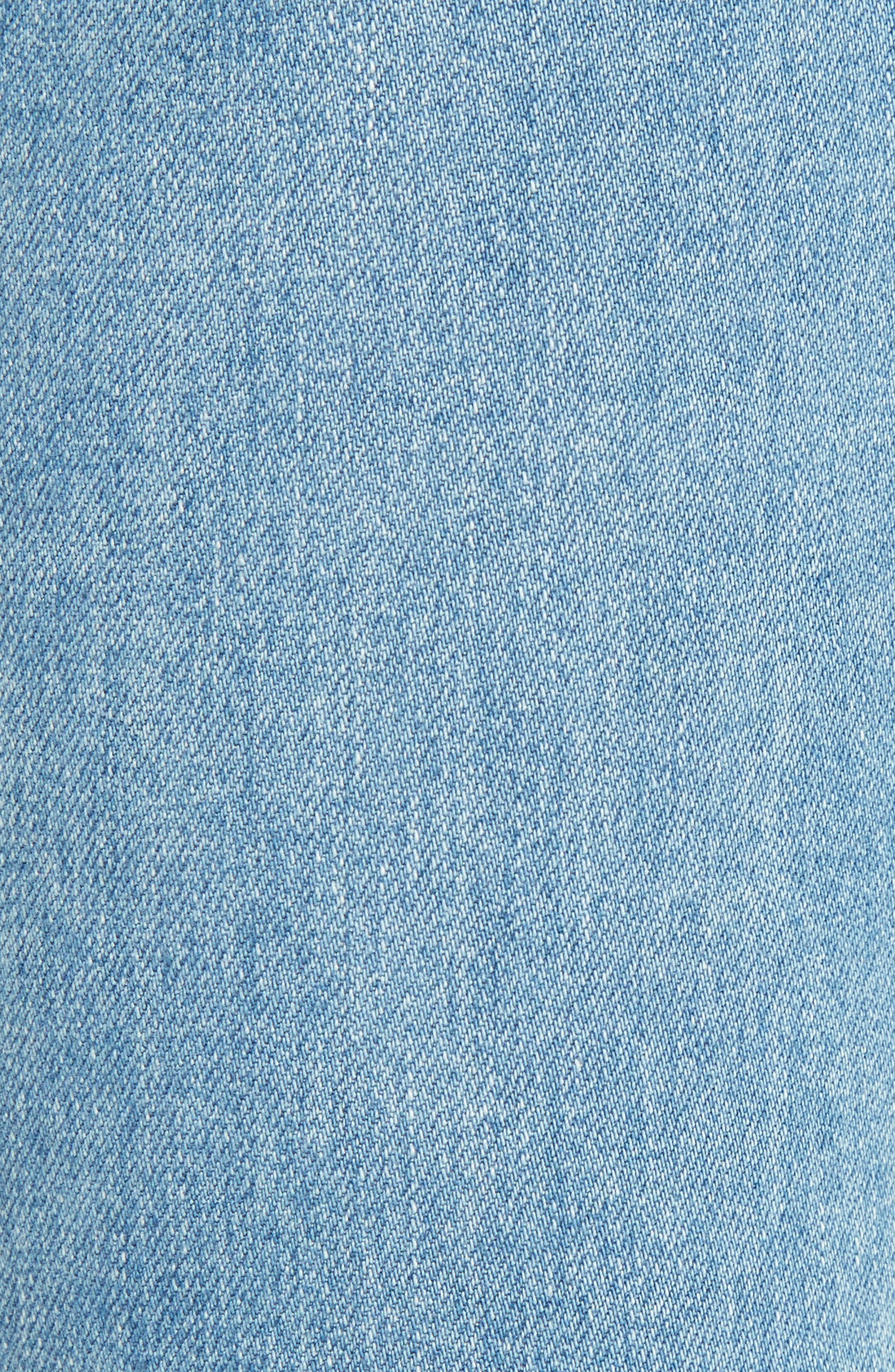 Alternate Image 5  - See by Chloé Iconic Ankle Flare Jeans (Stoned Indigo)