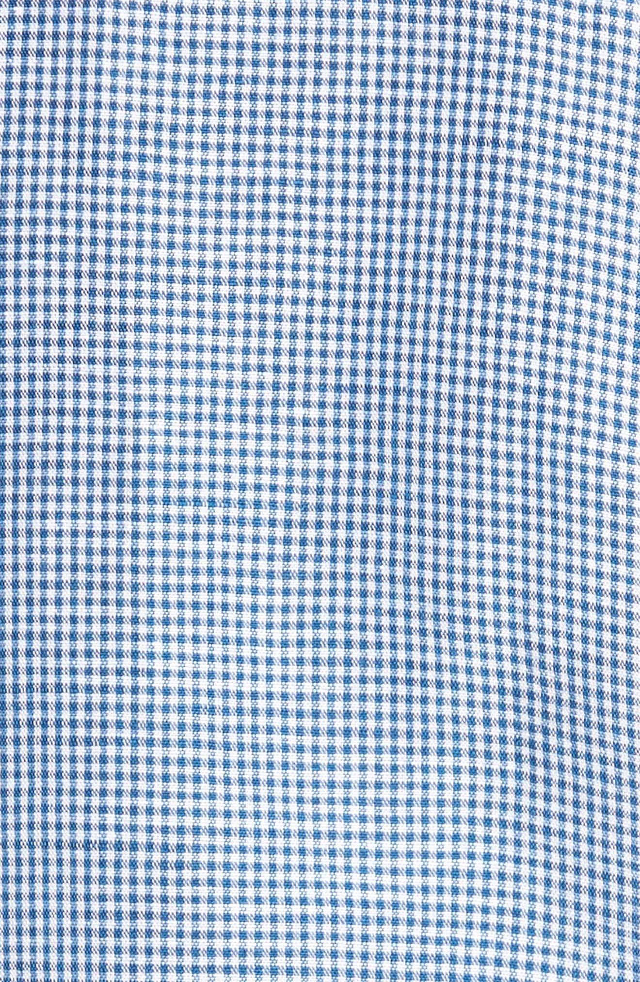 Sand Linen Island Modern Fit Sport Shirt,                             Alternate thumbnail 5, color,                             Bering Blue