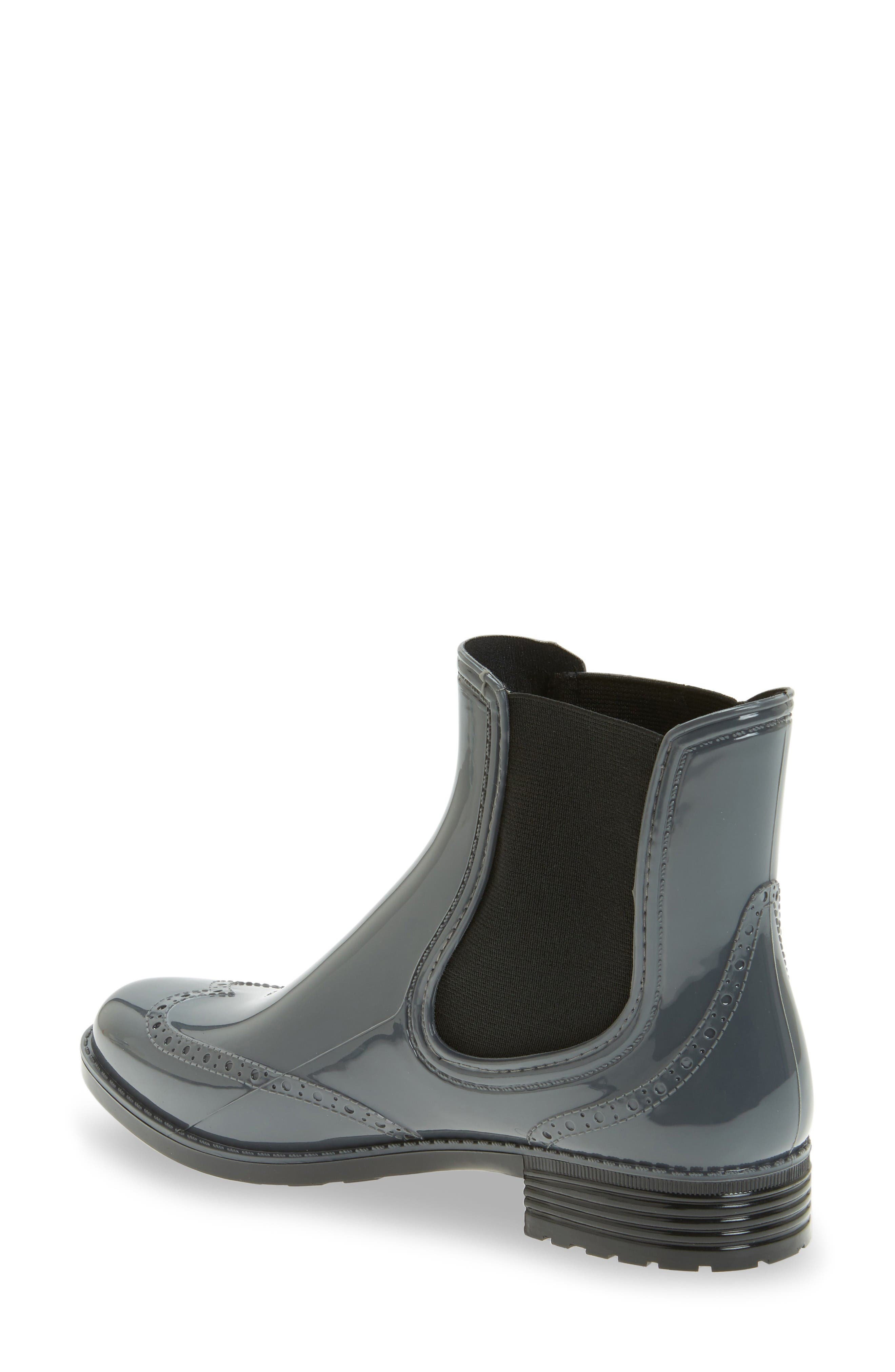 Vienna Chelsea Rain Boot,                             Alternate thumbnail 2, color,                             Charcoal