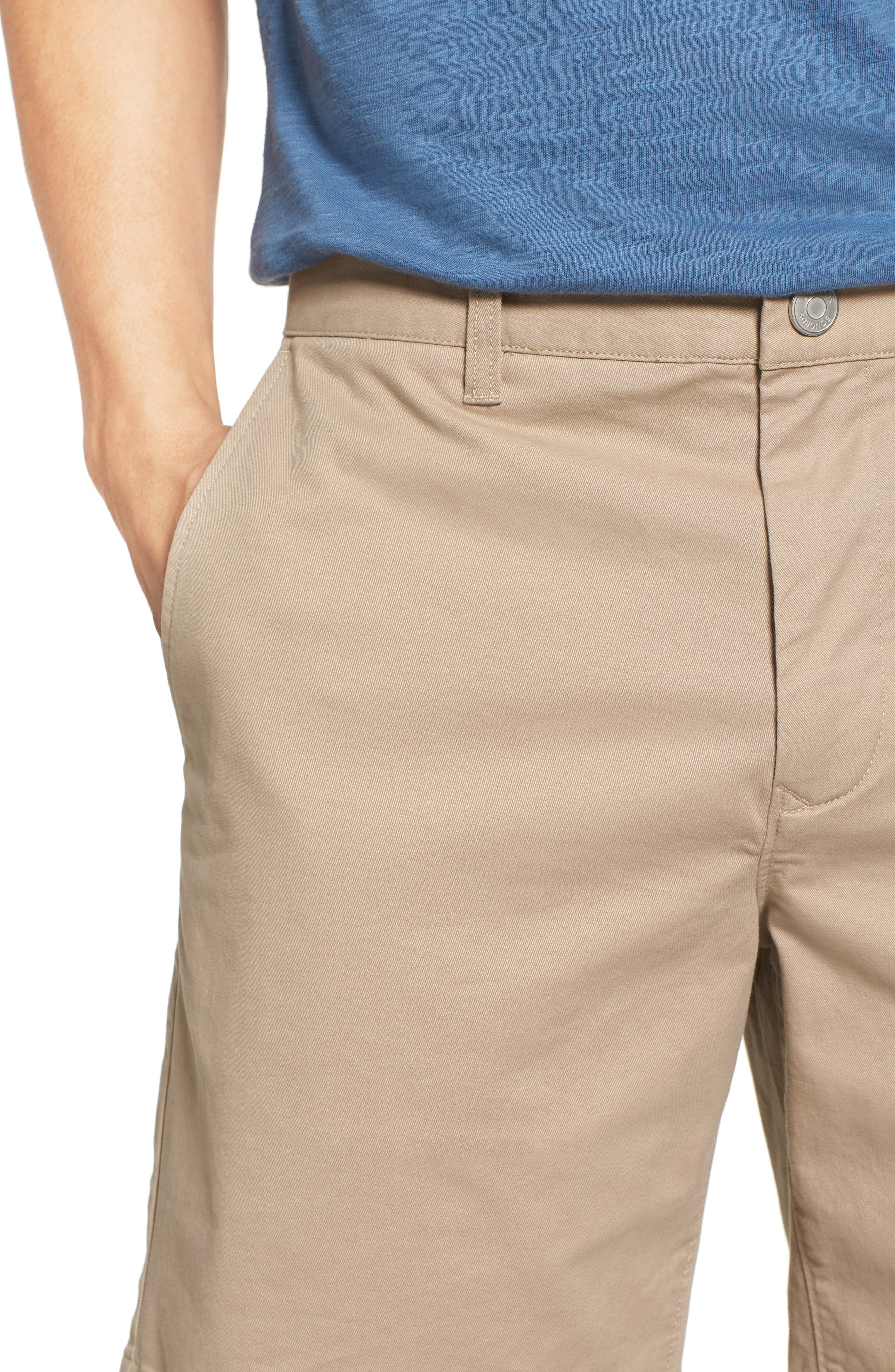 Stretch Washed Chino 7-Inch Shorts,                             Alternate thumbnail 4, color,                             True Khaki