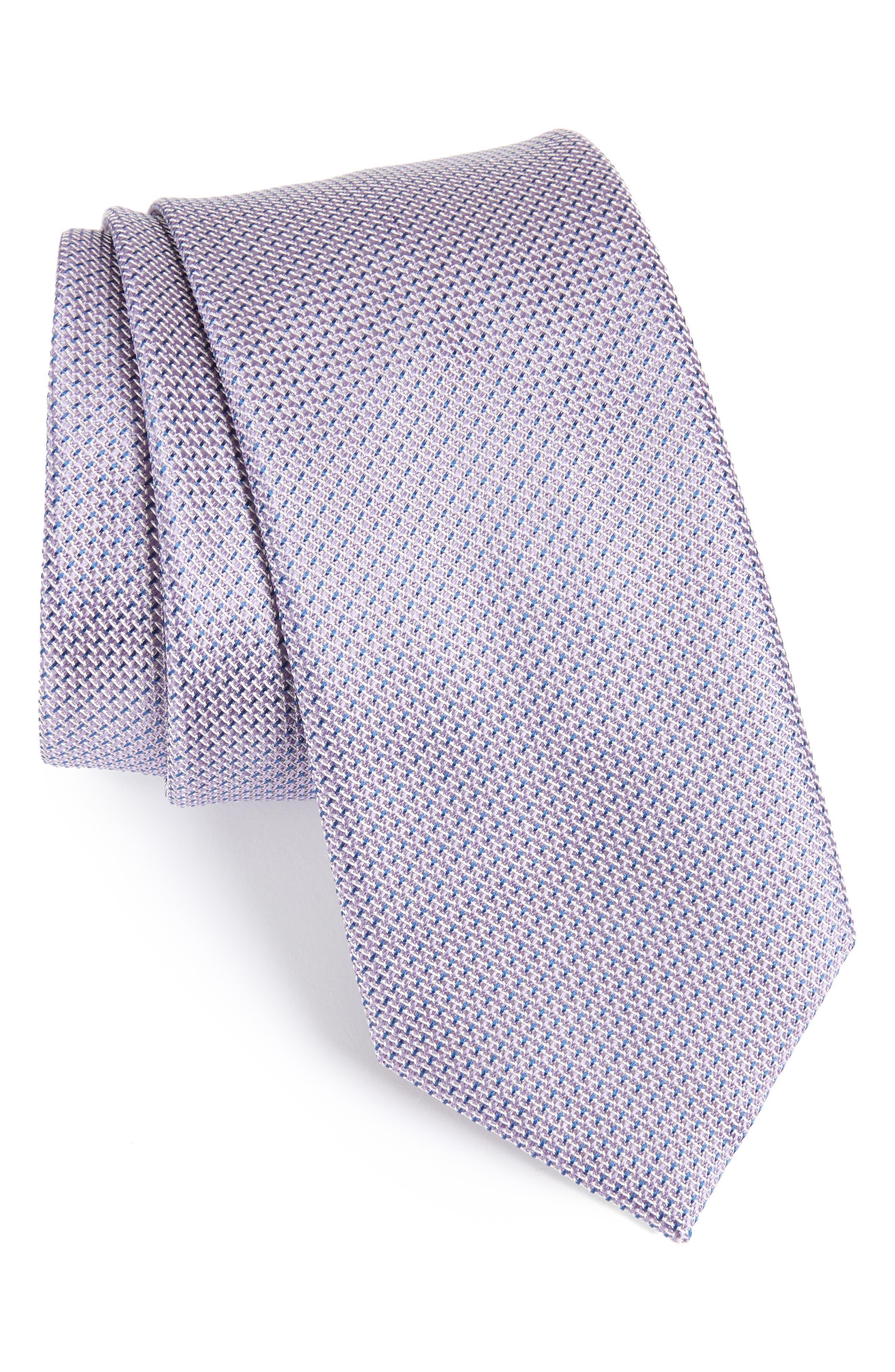 Geometric Silk Tie,                         Main,                         color, Lilac/ Blue