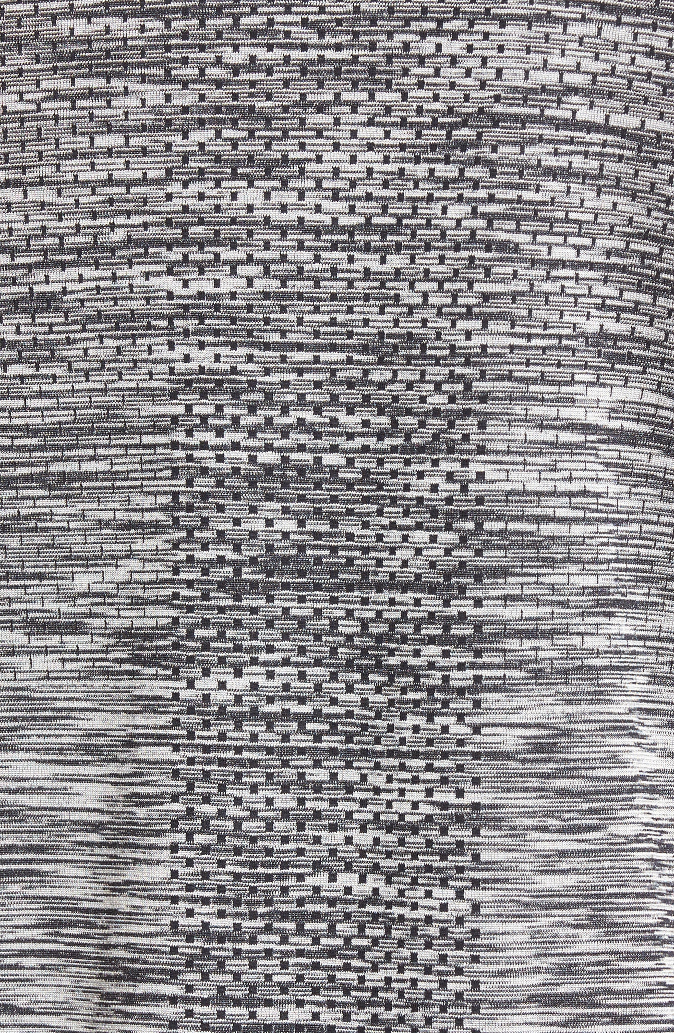 Men Dry Knit Running T-Shirt,                             Alternate thumbnail 5, color,                             Black/ Heather