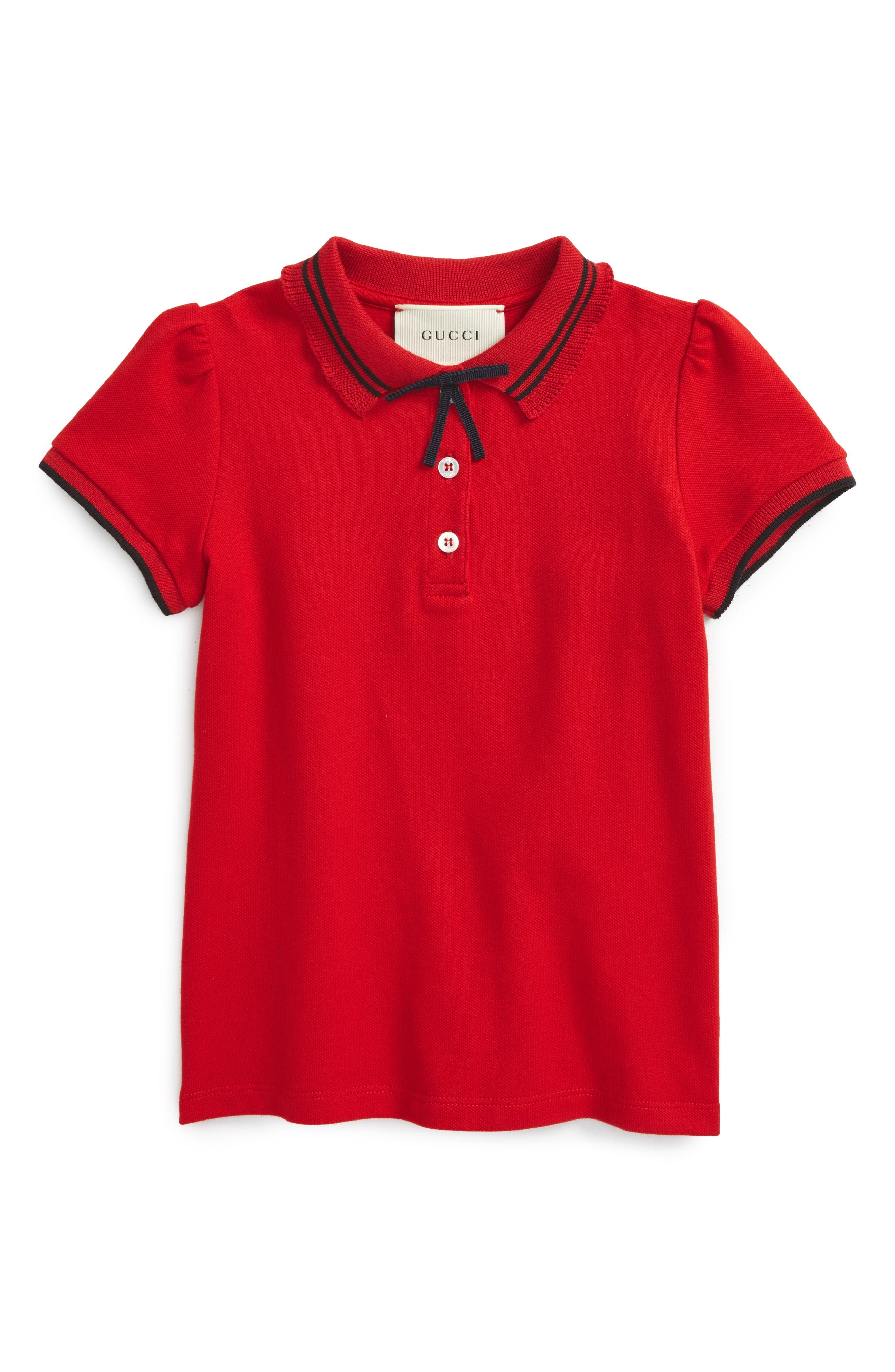 Gucci Grosgrian Ribbon Polo (Little Girls & Big Girls)