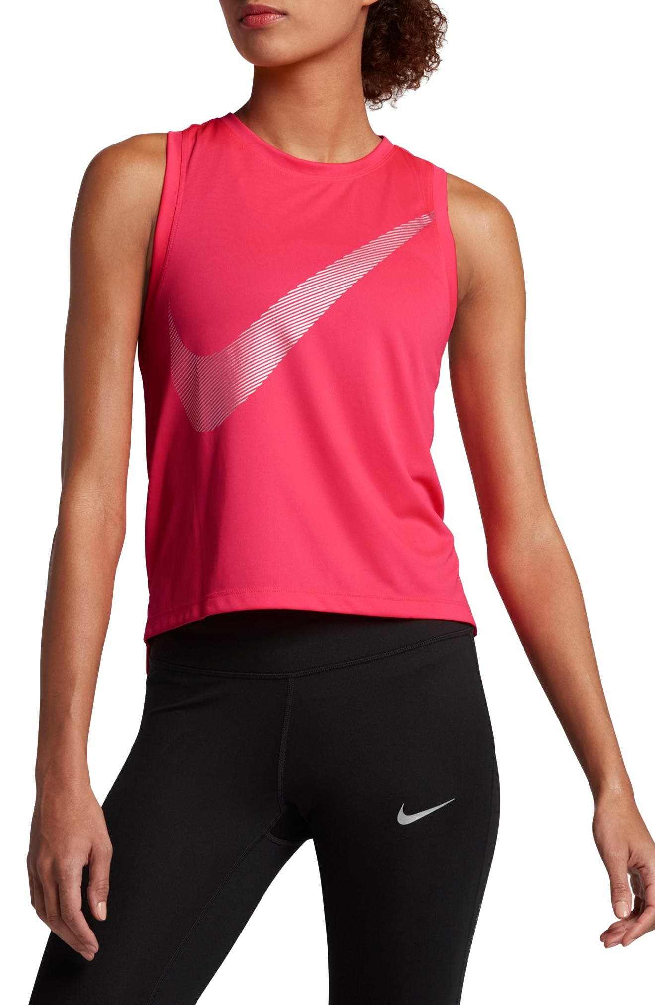 Dry City Running Tank,                         Main,                         color, Racer Pink