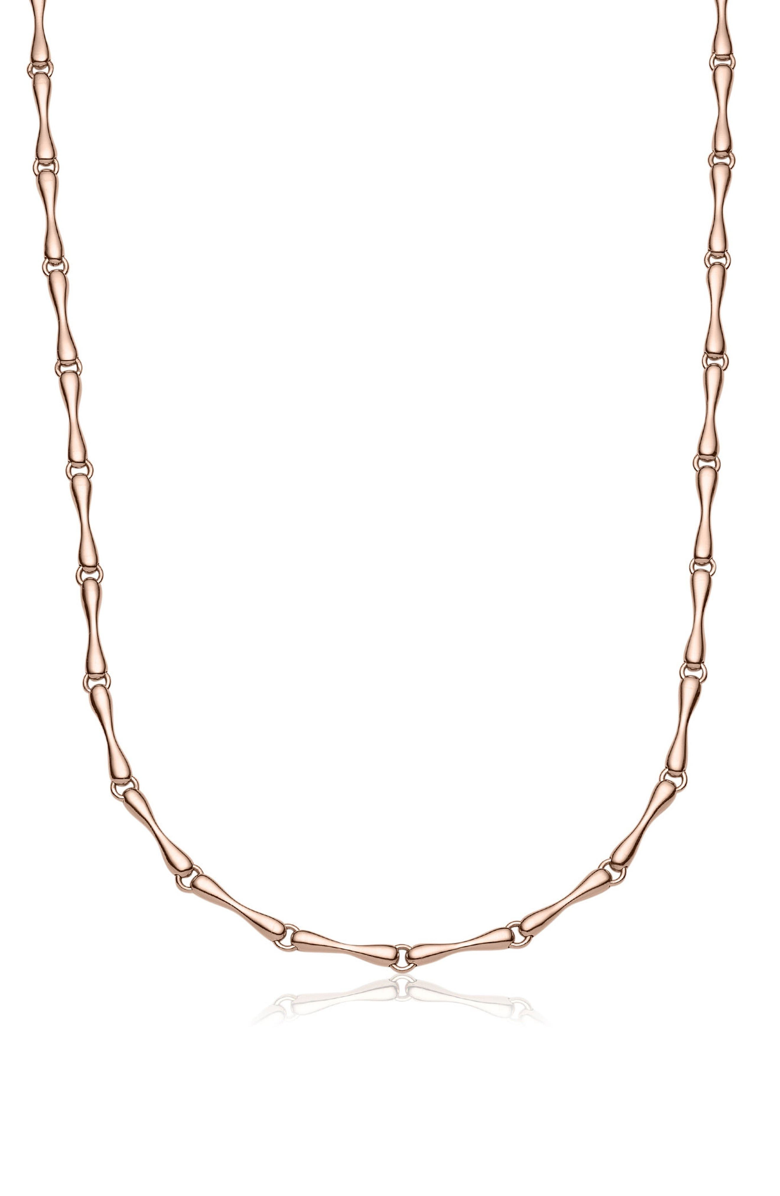 Nura Reef Chain Necklace,                         Main,                         color, Rose Gold