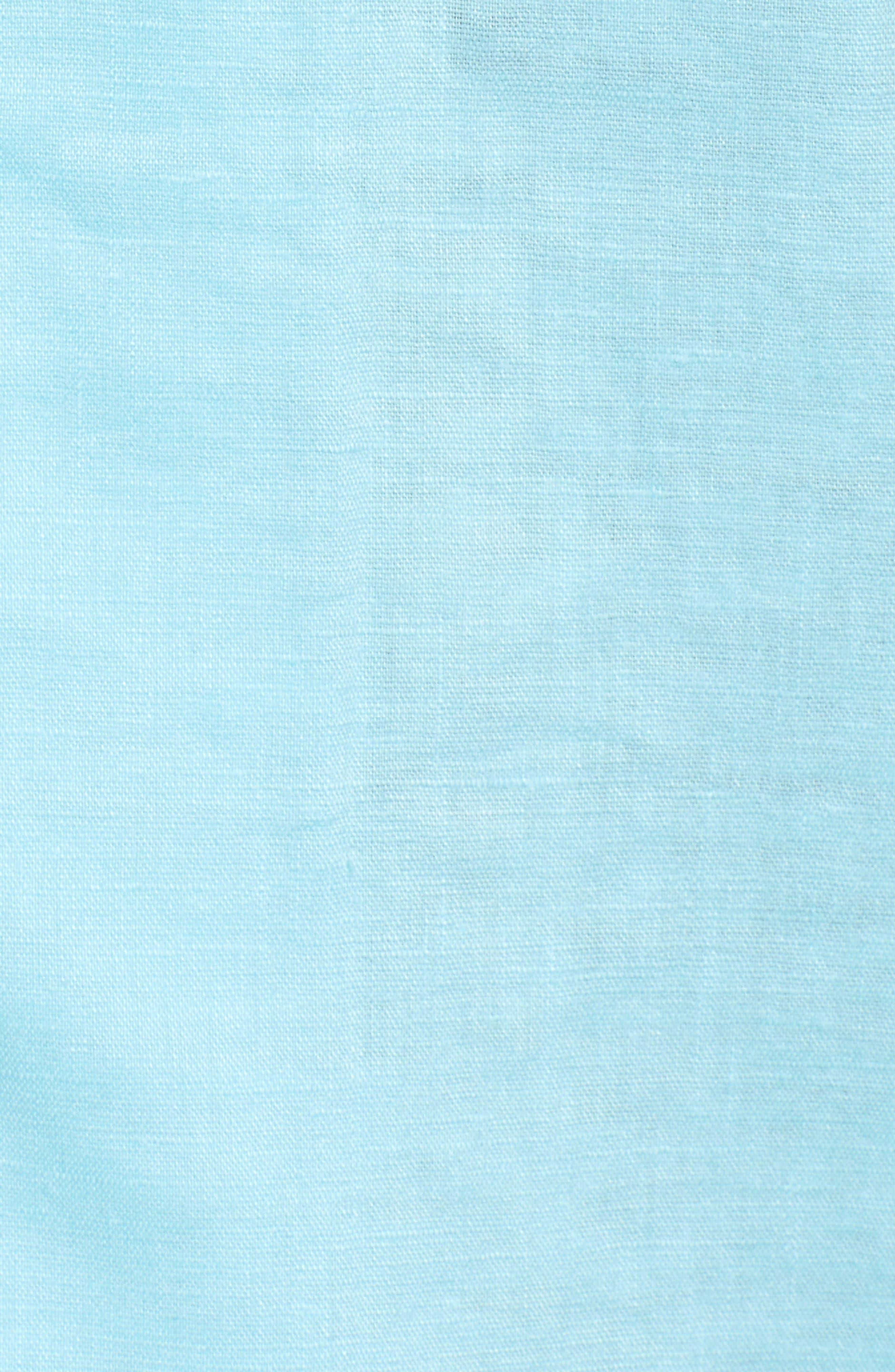 Monaco Tides Standard Fit Linen Blend Camp Shirt,                             Alternate thumbnail 5, color,                             Graceful Sea