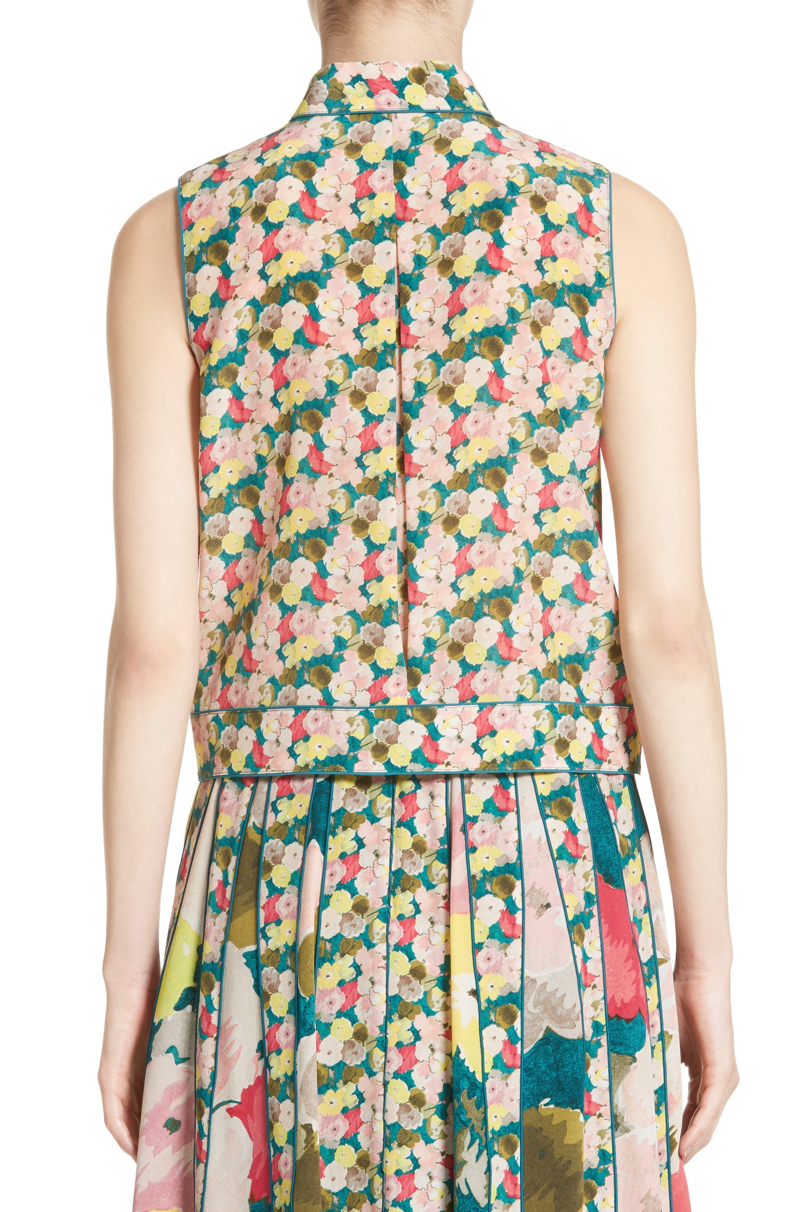 Alternate Image 2  - Lafayette 148 New York Tisha Floral Silk Blouse