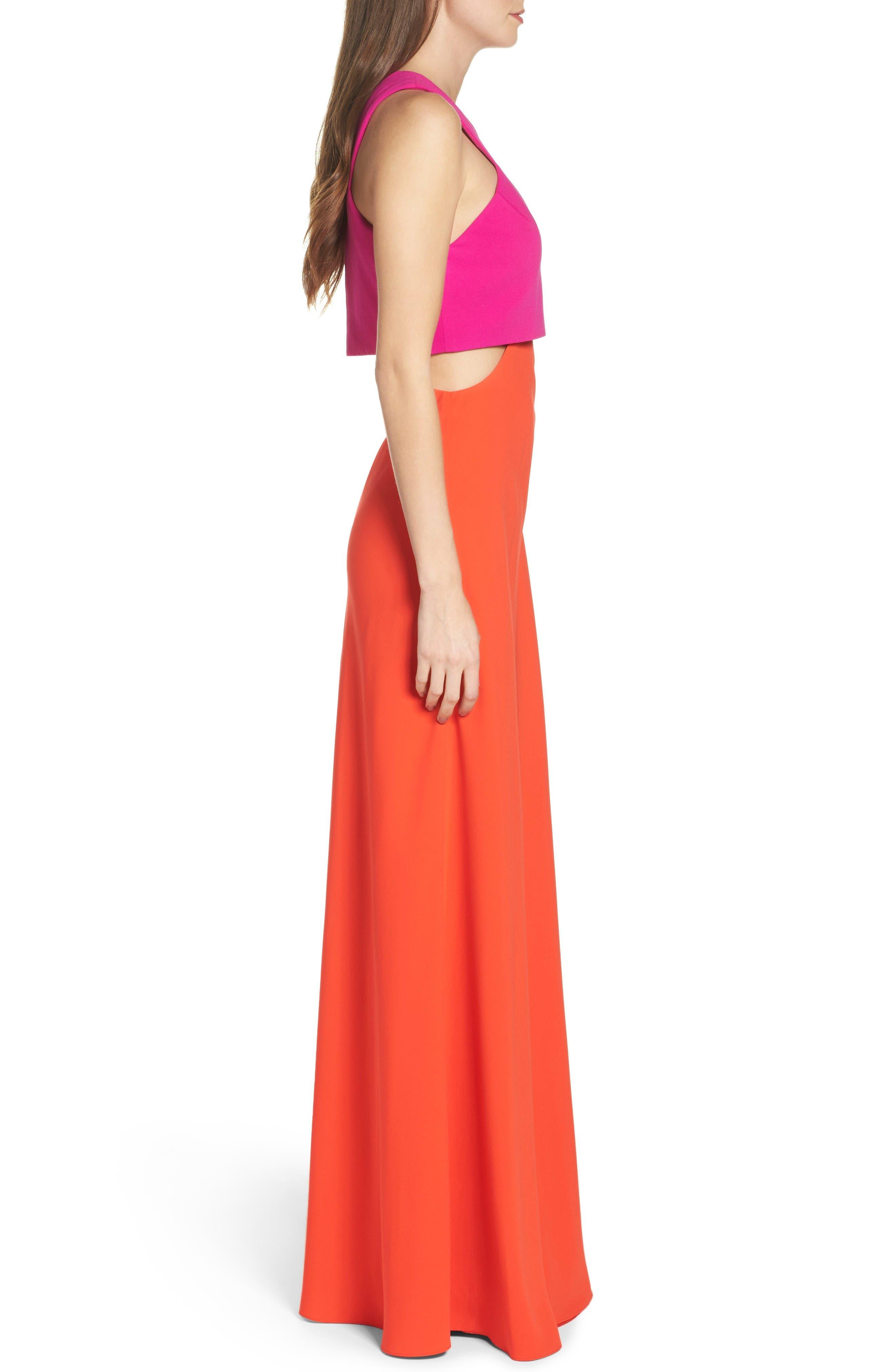 Alternate Image 3  - Jill Jill Stuart Popover Crepe Gown