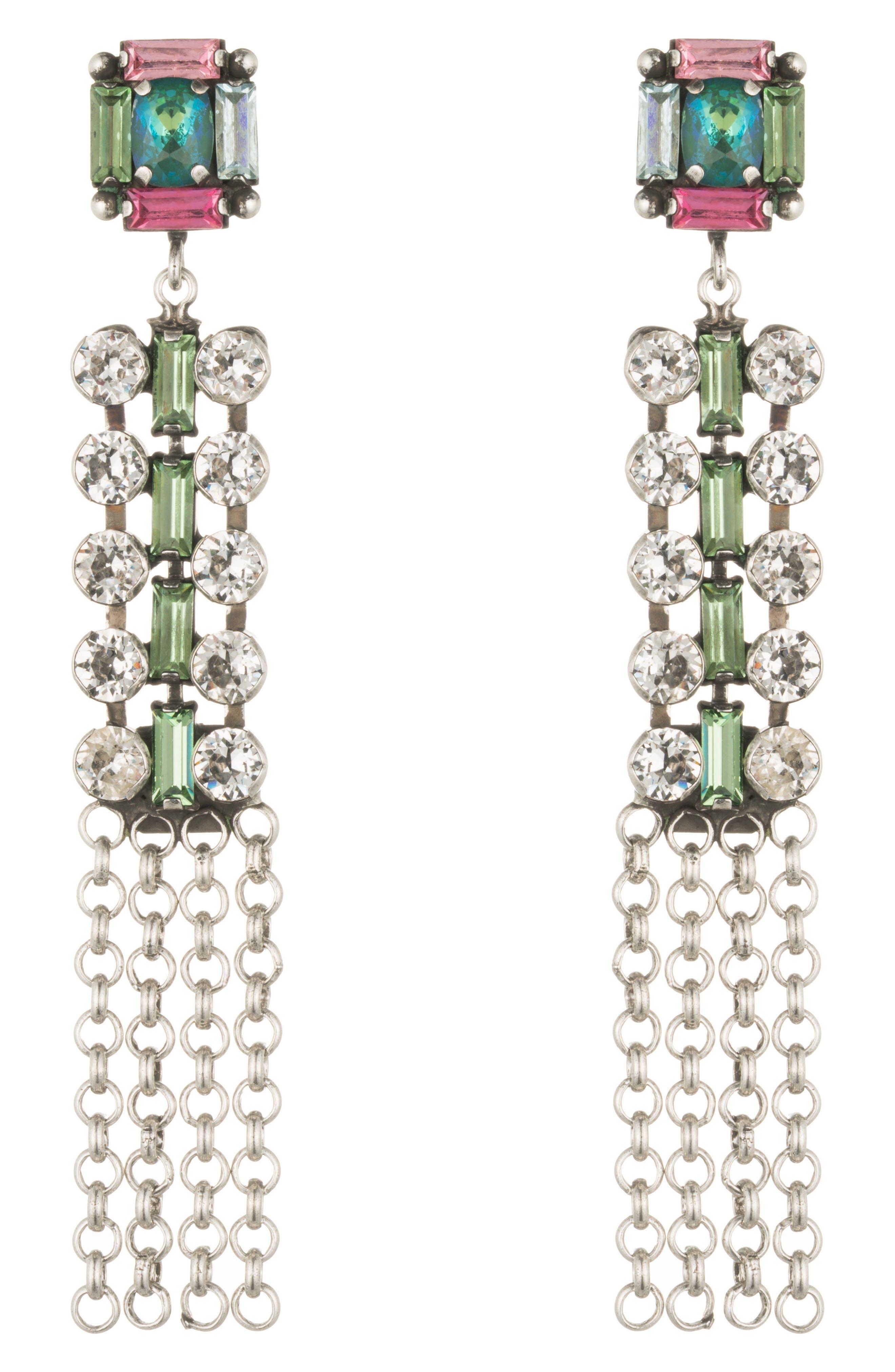 DANNIJO Akili Crystal Drop Earrings