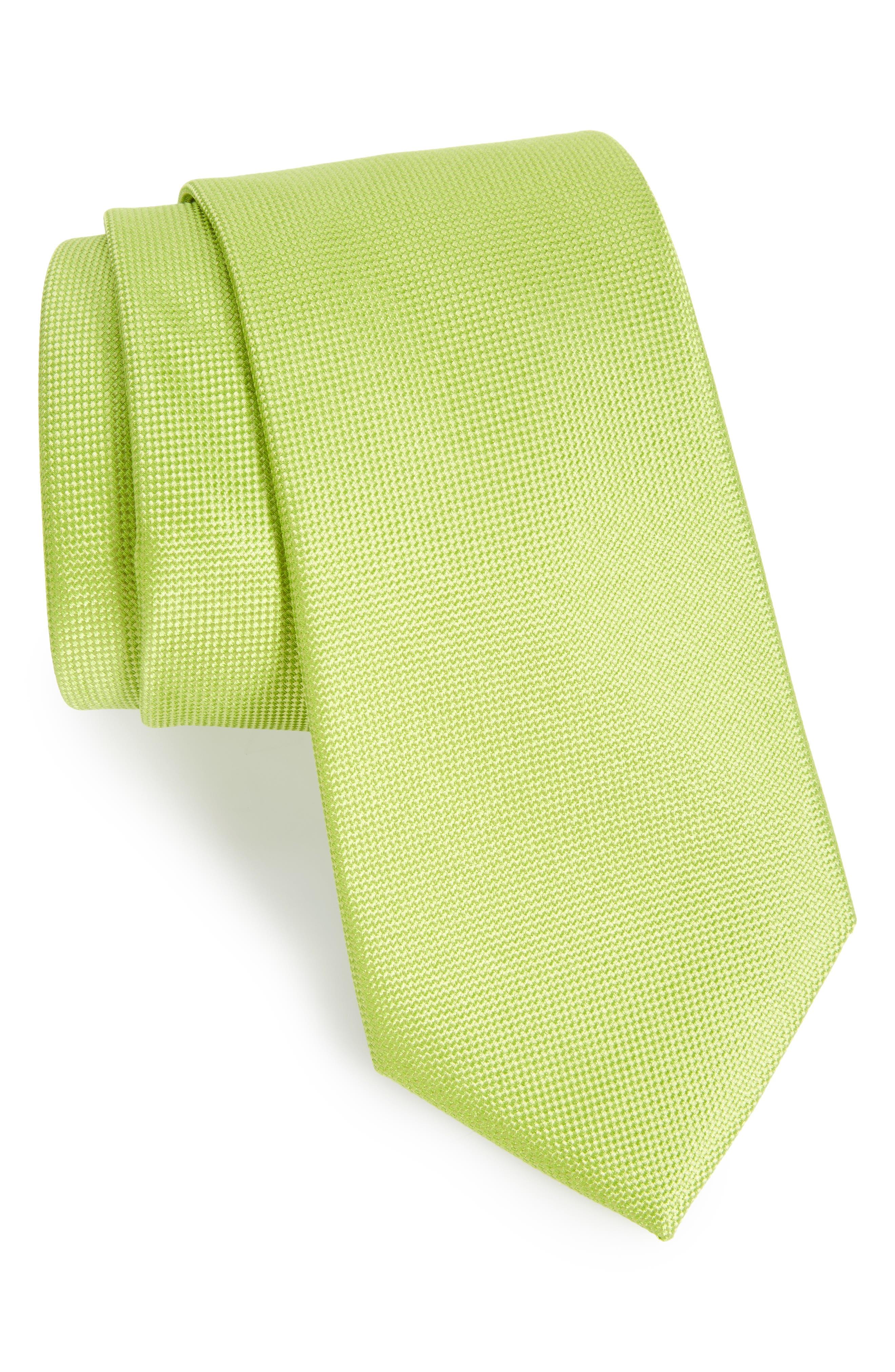 NORDSTROM MENS SHOP Solid Silk Tie