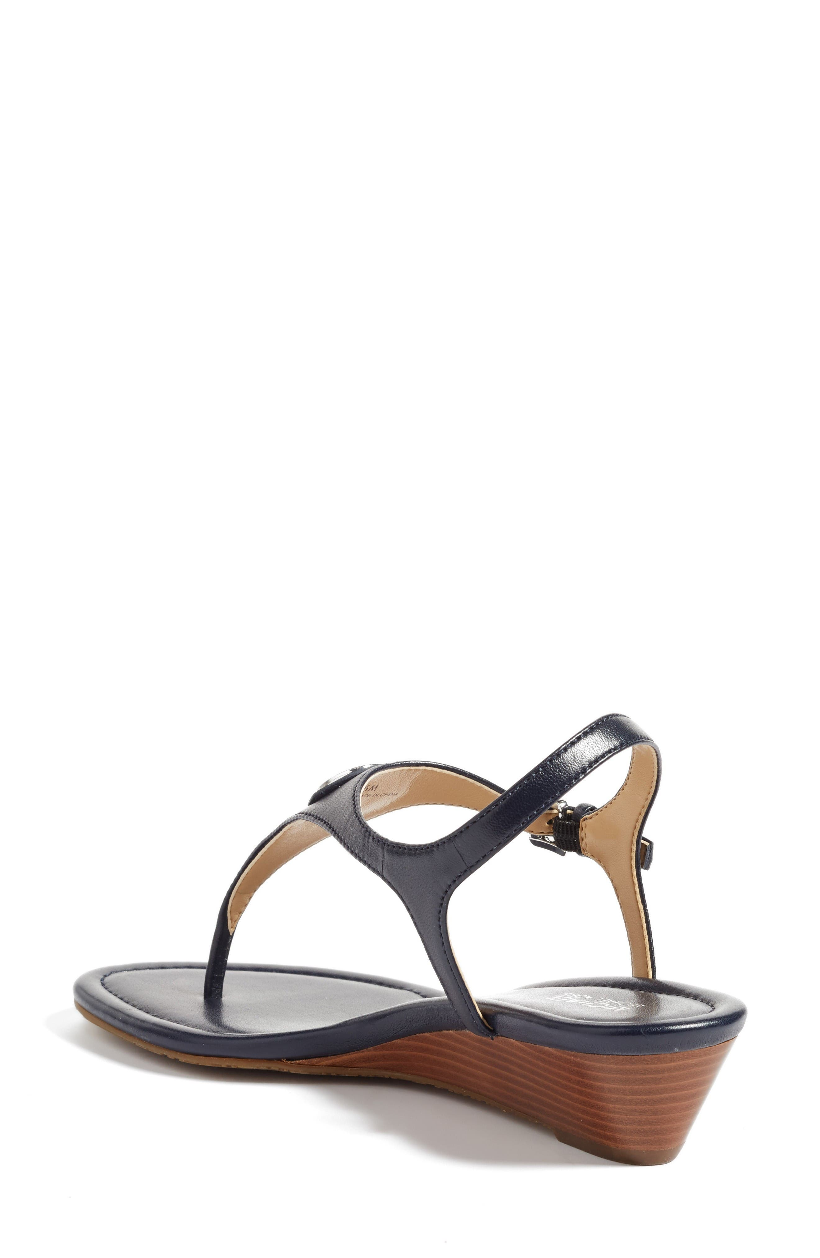 'Ramona' Wedge Sandal,                             Alternate thumbnail 2, color,                             Admiral Nappa Leather