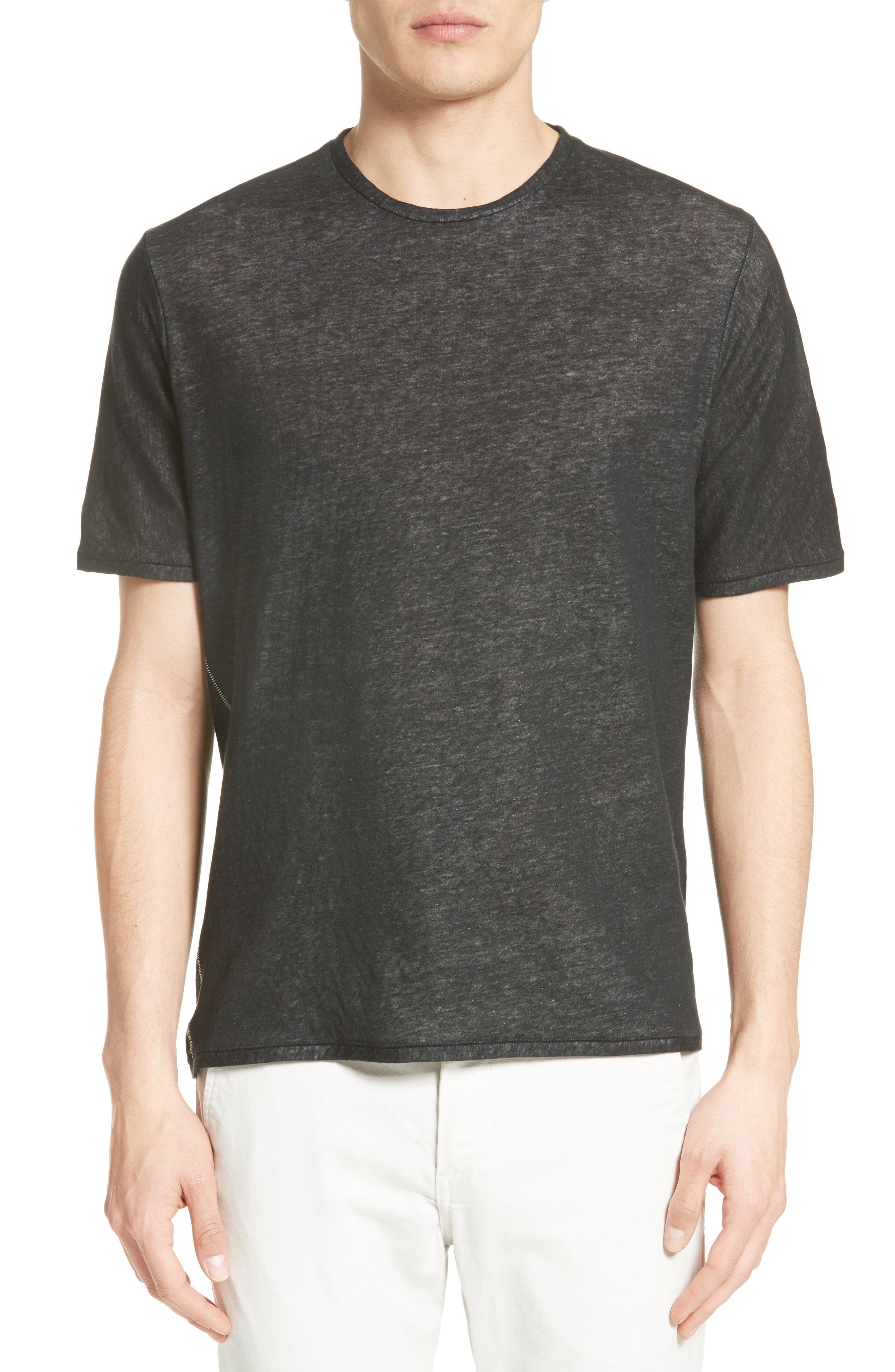 Rigby Double Layer T-Shirt,                         Main,                         color, Black/ Ivory