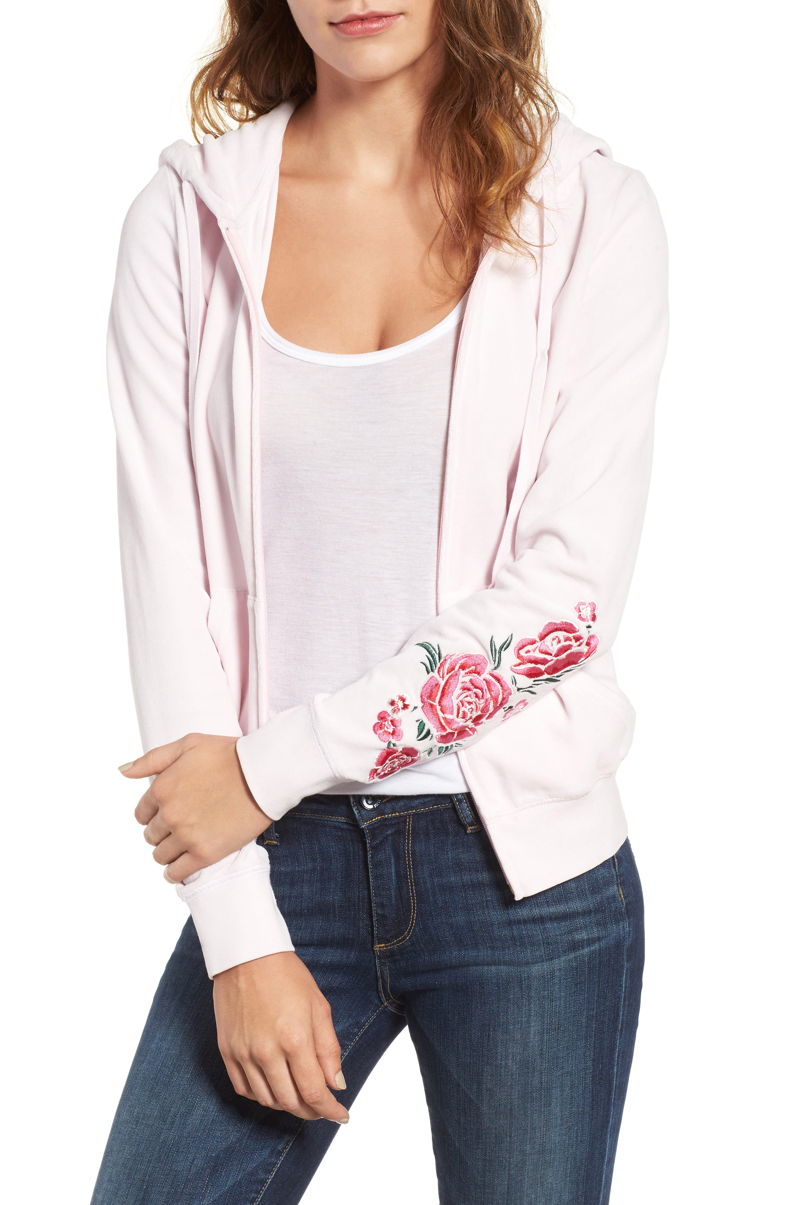 Juicy Couture Floral Enchantment Robertson Velour Hoodie