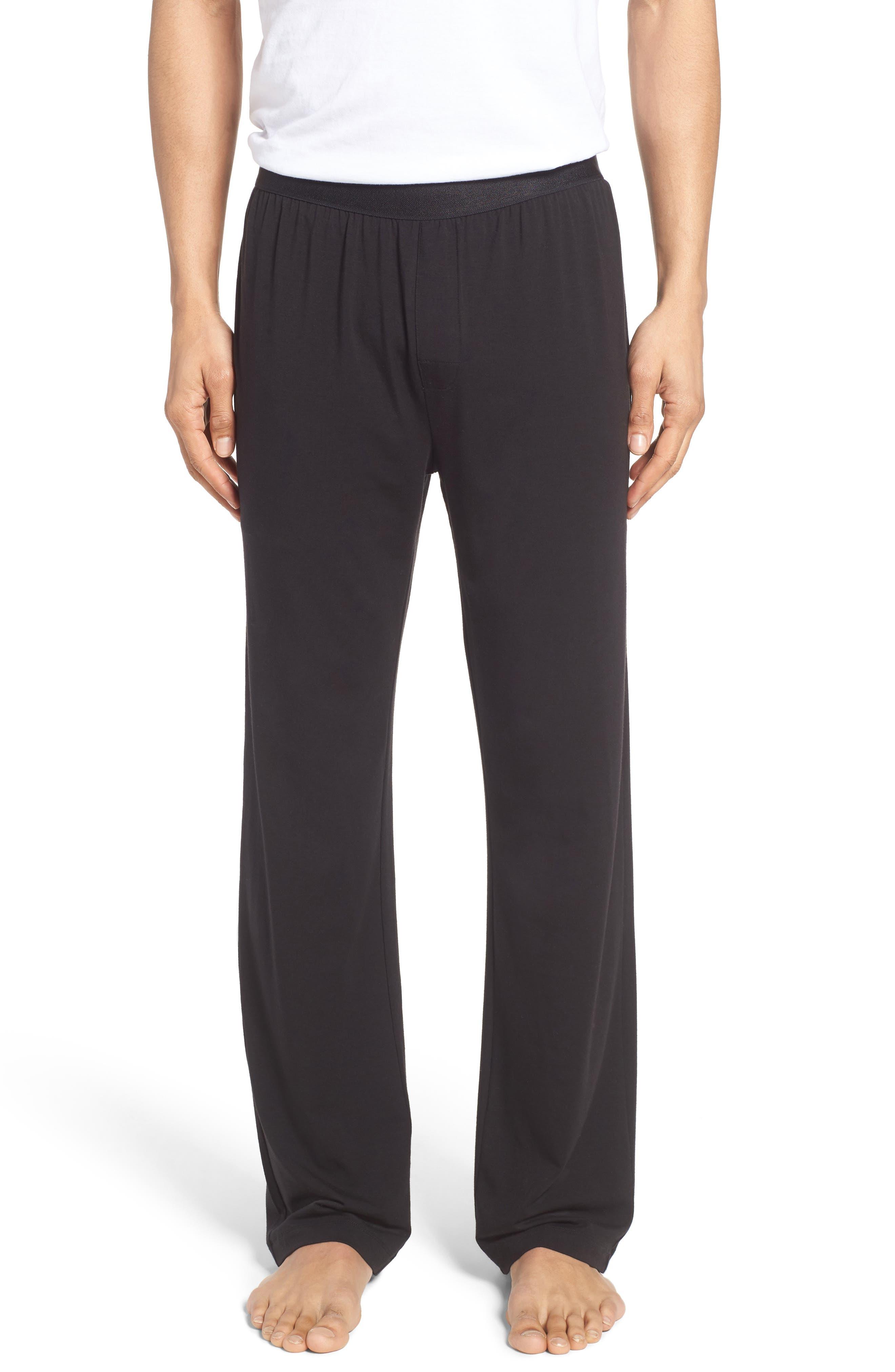 Micromodal Blend Lounge Pants,                             Main thumbnail 1, color,                             Black