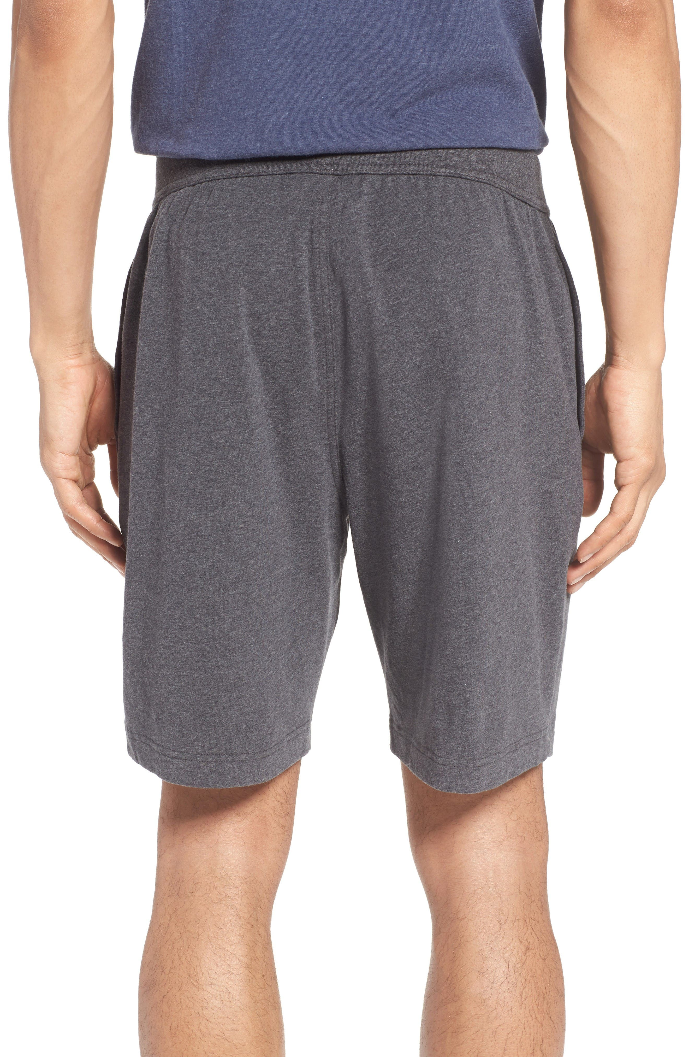 Stretch Cotton Lounge Shorts,                             Alternate thumbnail 2, color,                             Grey Charcoal