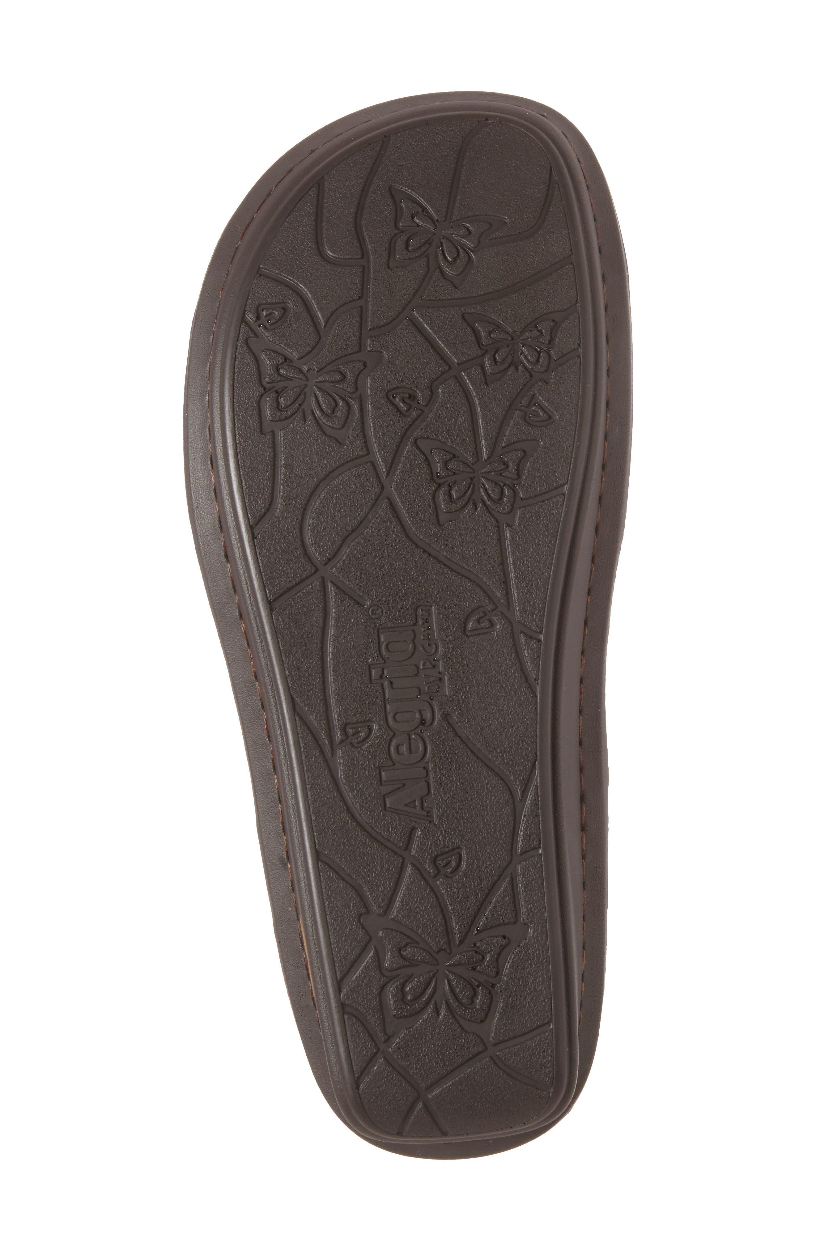 Viki Embroidered Sandal,                             Alternate thumbnail 4, color,                             Cognac Pins/ Needles Leather
