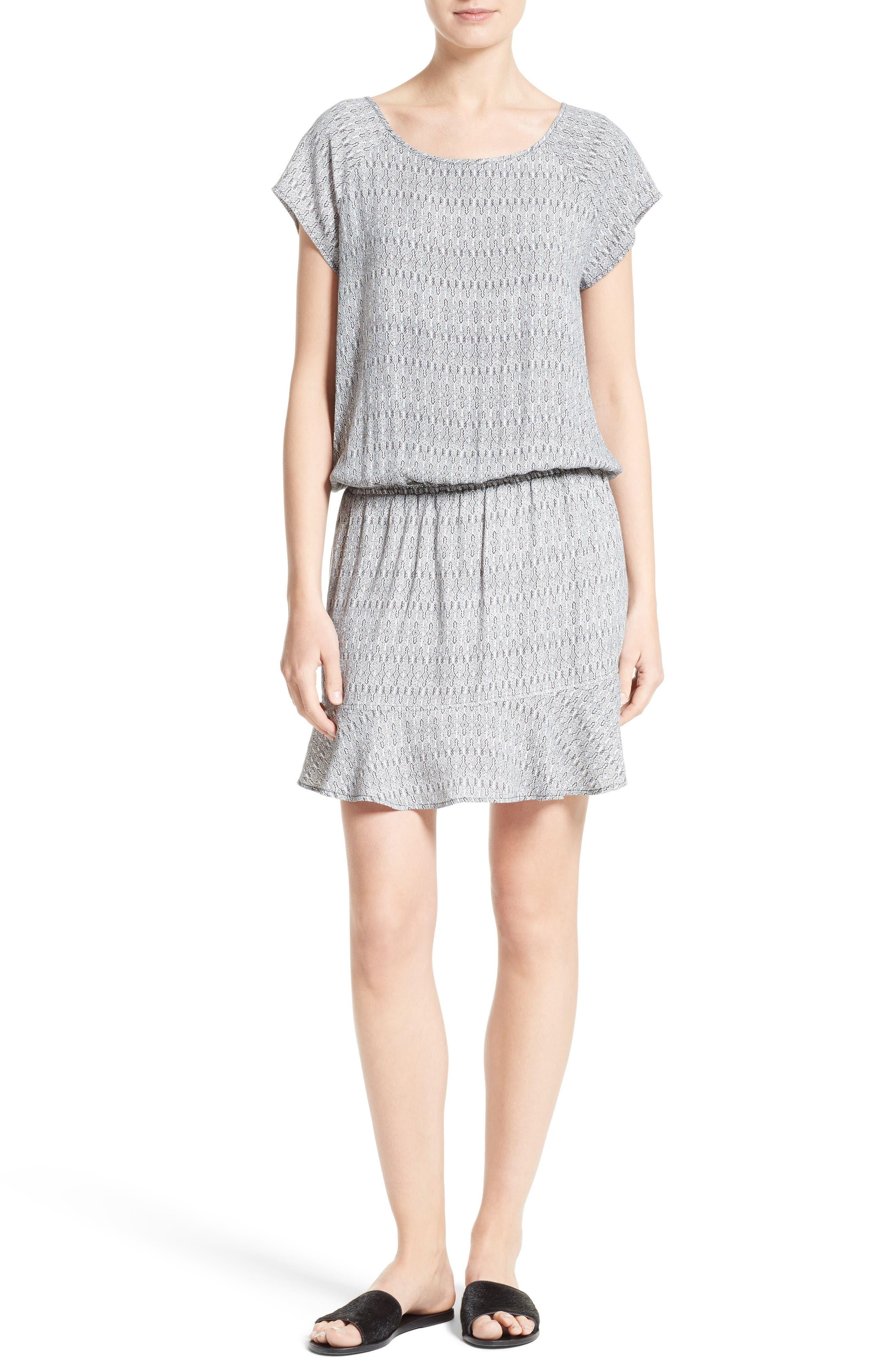 Quora Blouson Dress,                         Main,                         color, Caviar