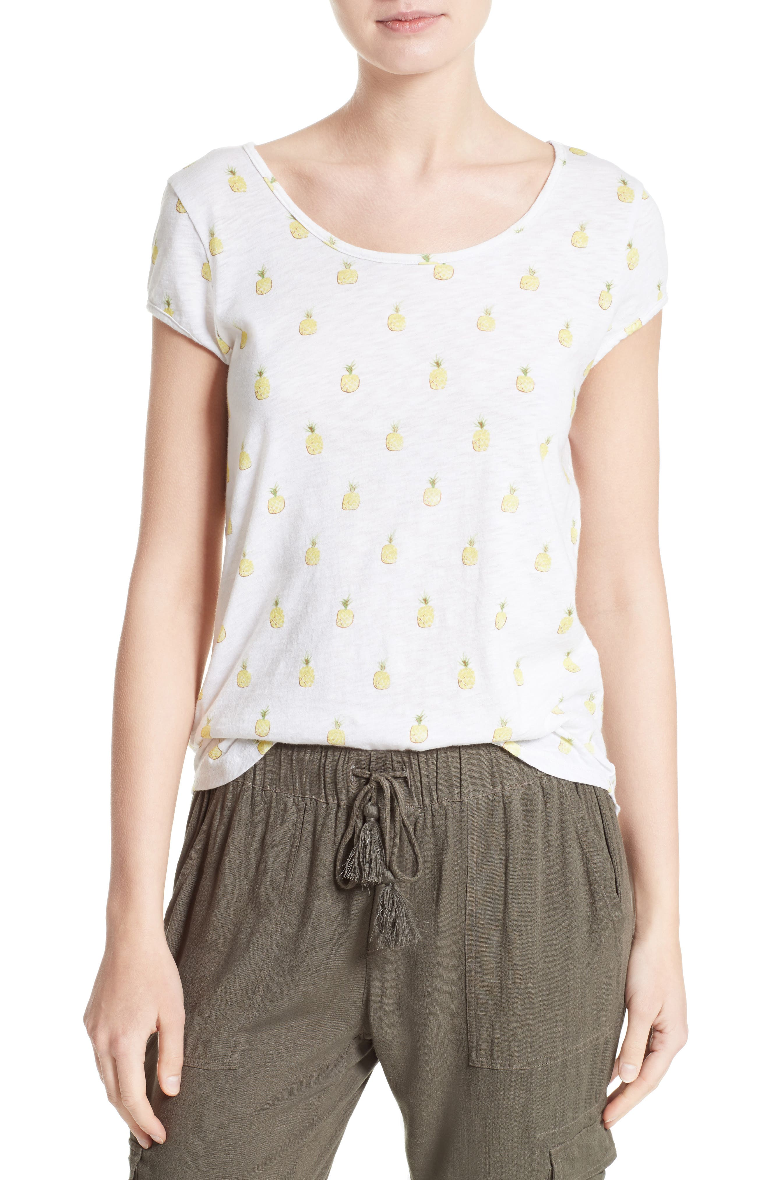 Alternate Image 1 Selected - Soft Joie Cotton Tee