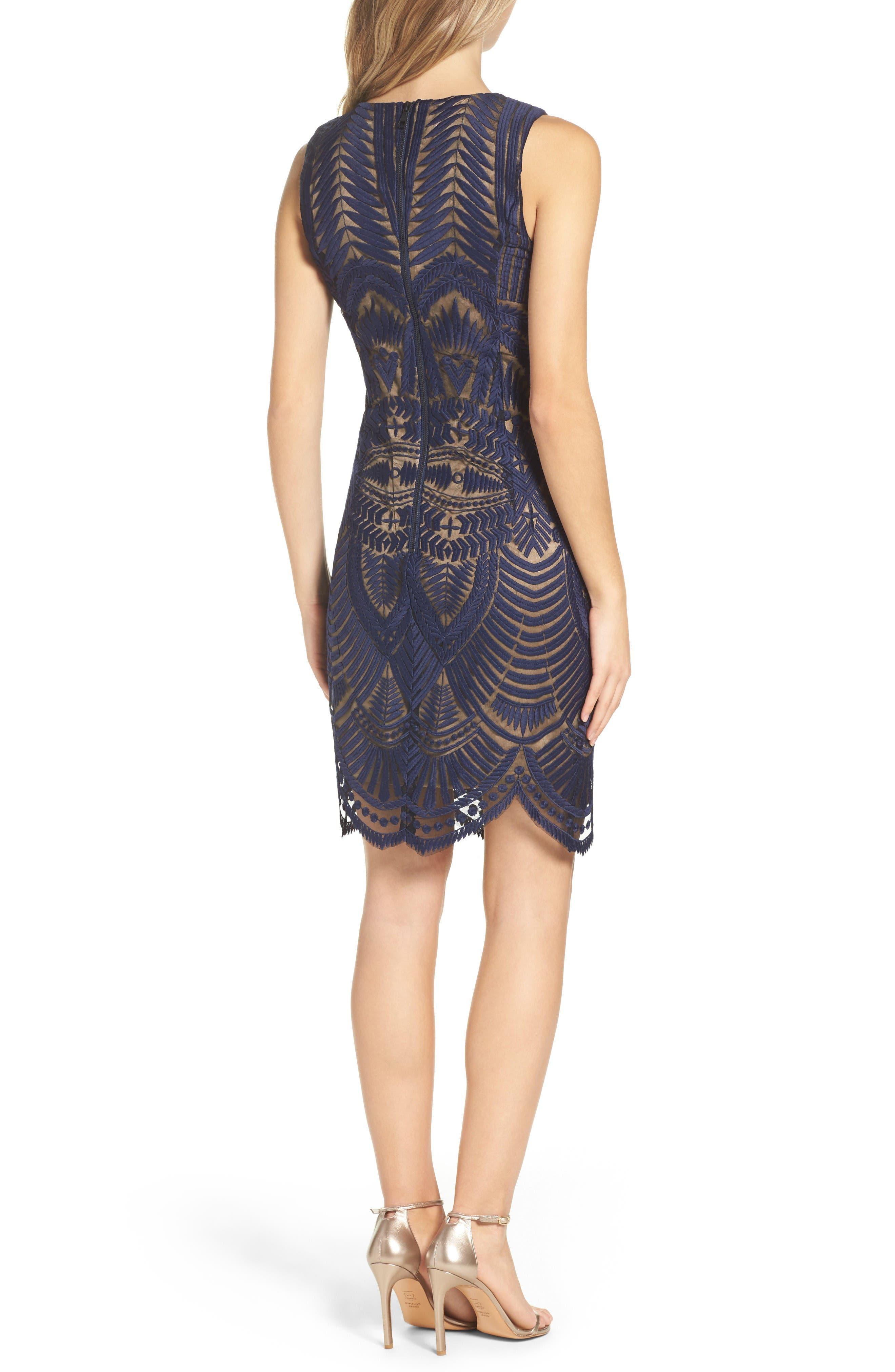 Alternate Image 2  - Bardot Embroidered Mesh Dress
