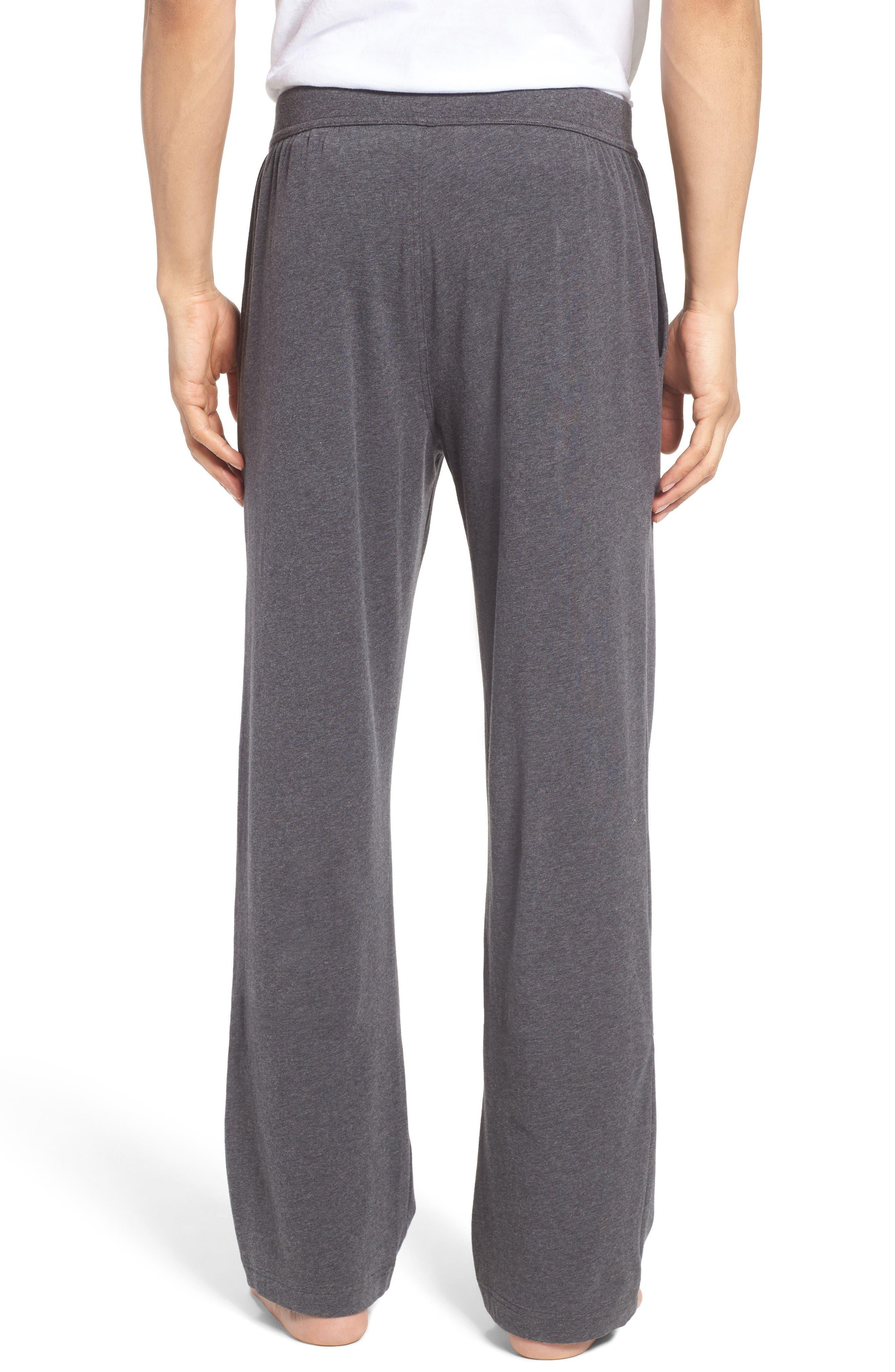 Stretch Cotton Lounge Pants,                             Alternate thumbnail 2, color,                             Grey Charcoal