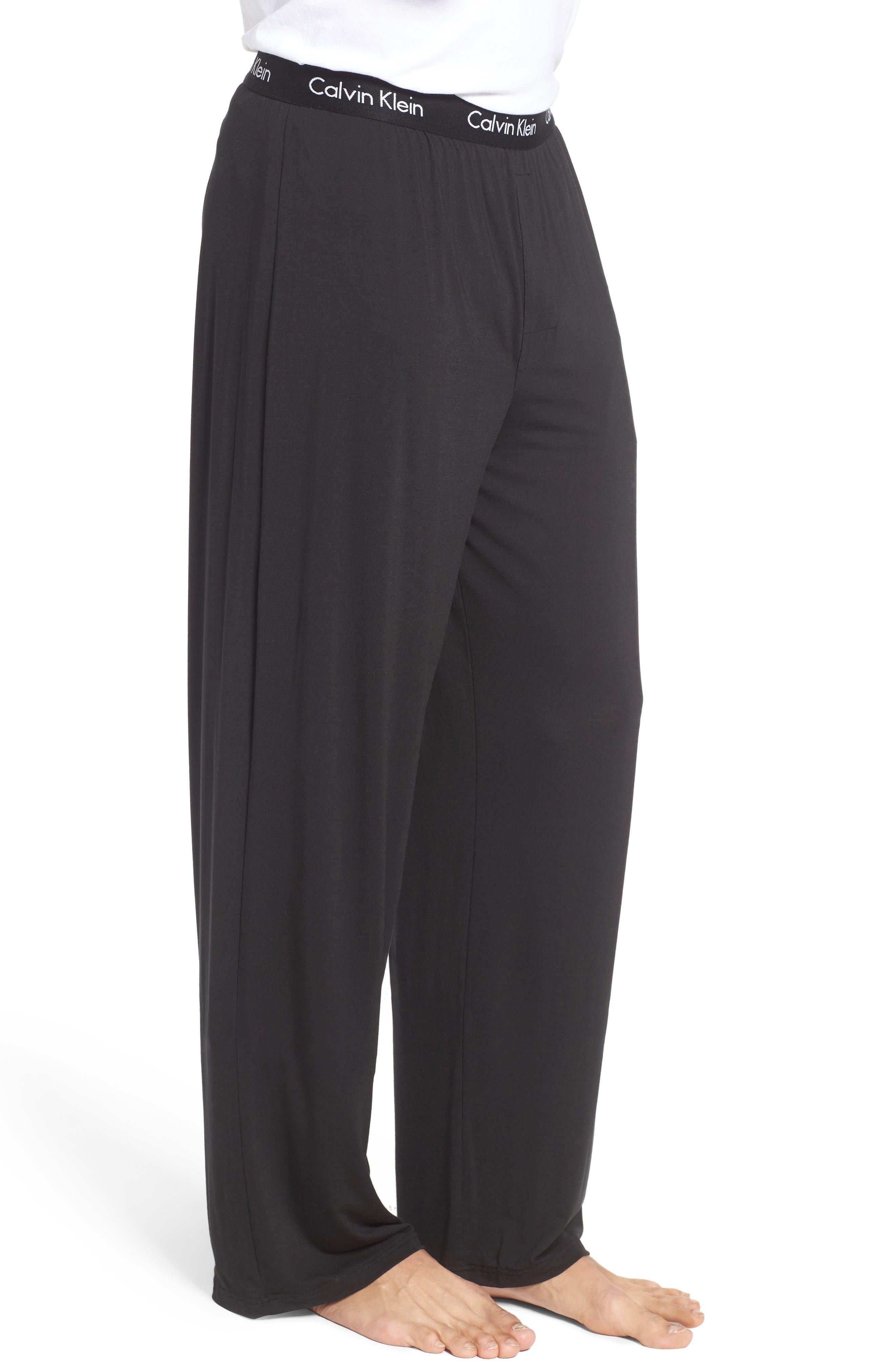 'U1143' Micromodal Lounge Pants,                             Alternate thumbnail 3, color,                             Black