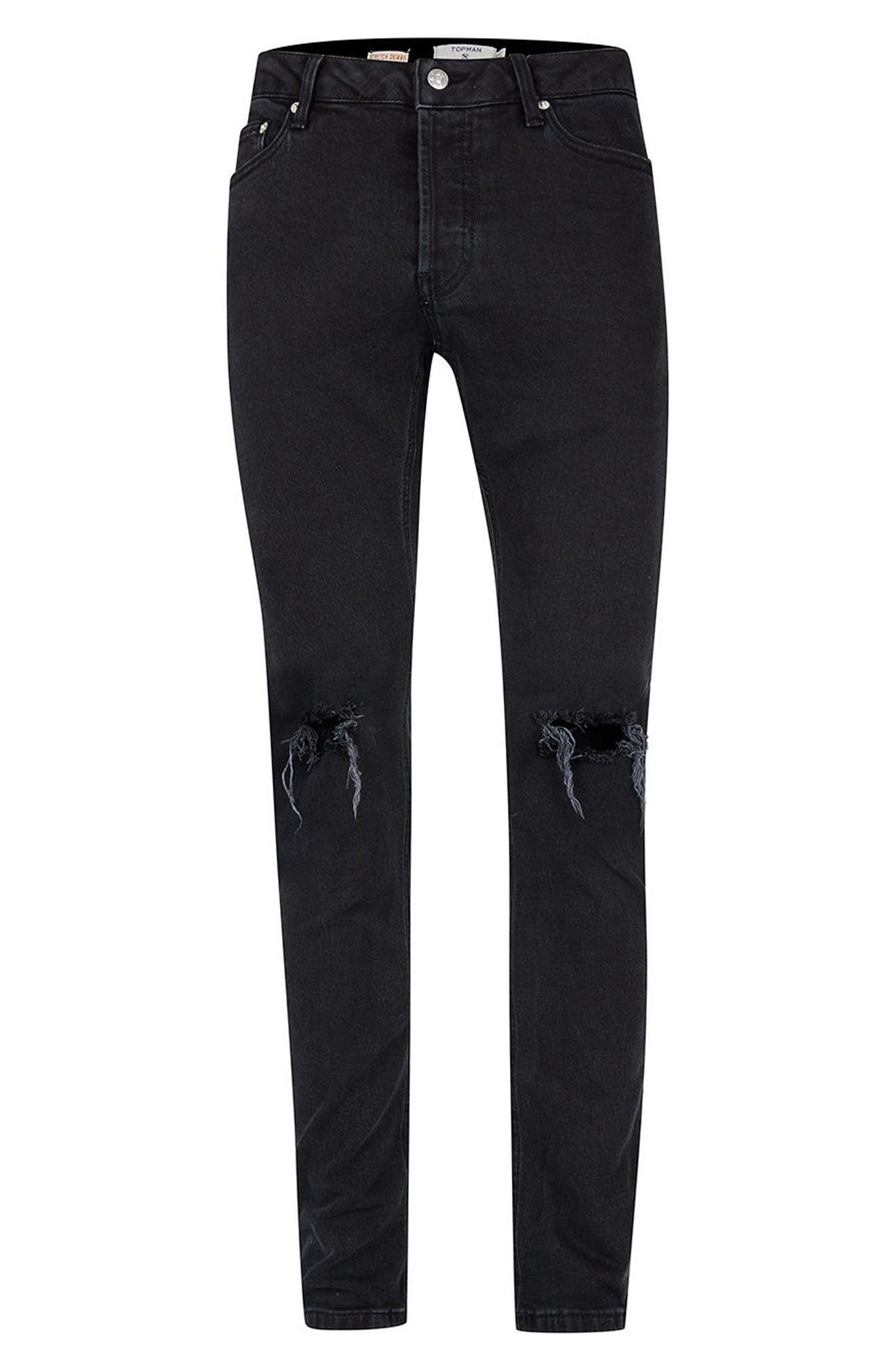 Alternate Image 6  - Topman Ripped Skinny Fit Jeans