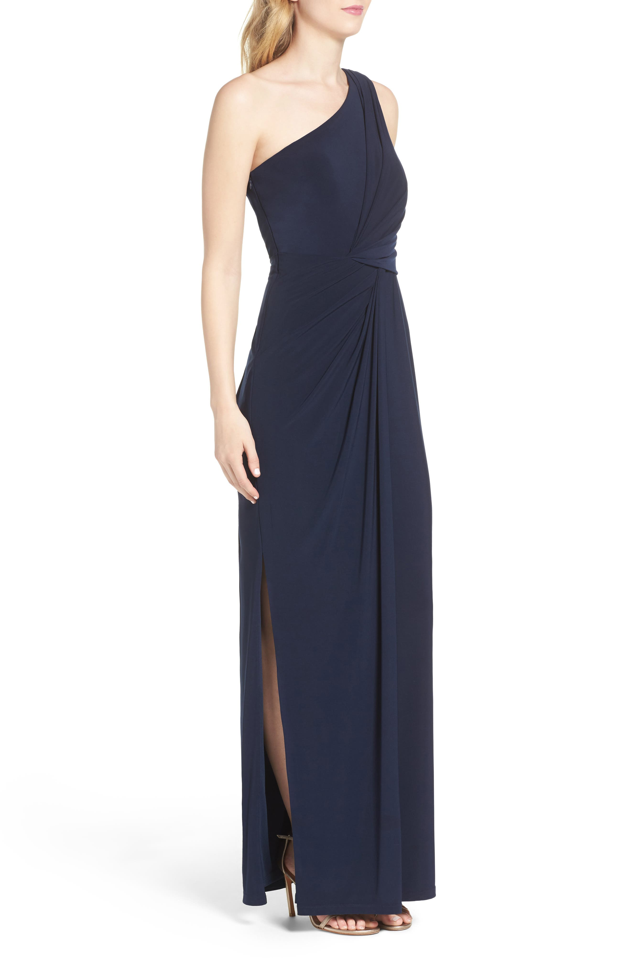 Alternate Image 3  - Adrianna Papell Jersey Column Gown