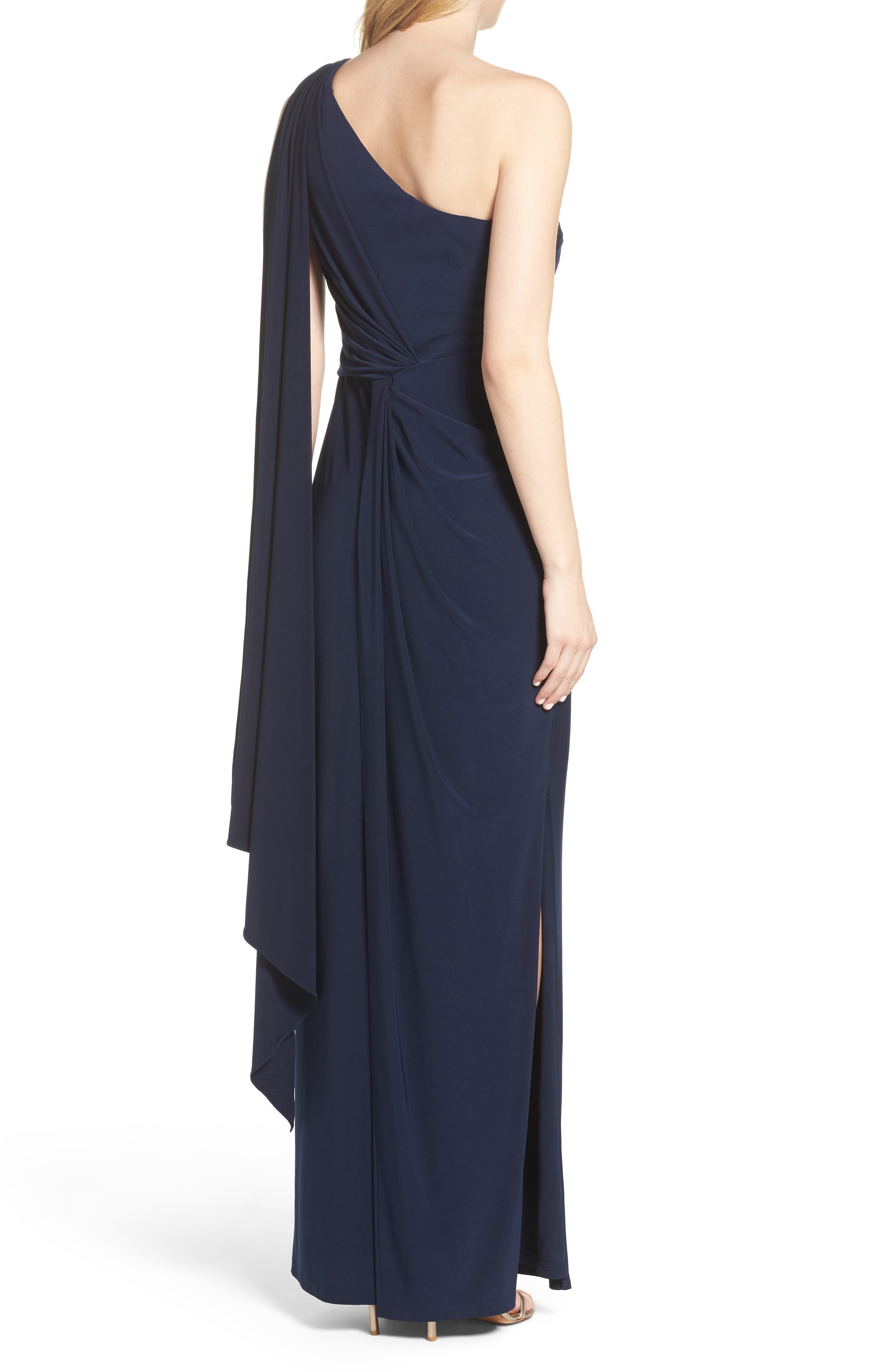Alternate Image 2  - Adrianna Papell Jersey Column Gown