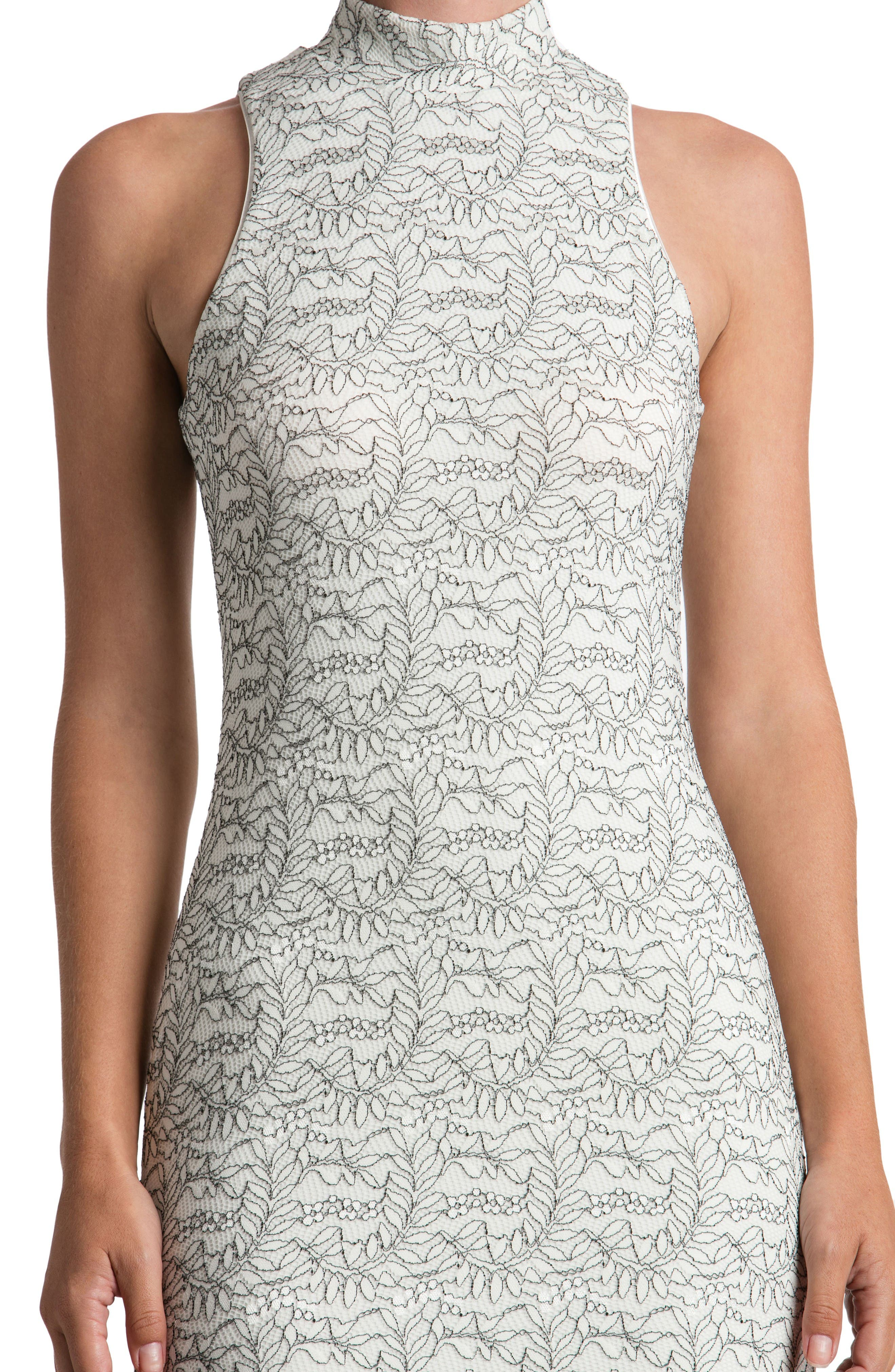 Alternate Image 4  - Dress the Population Norah Lace Midi Dress