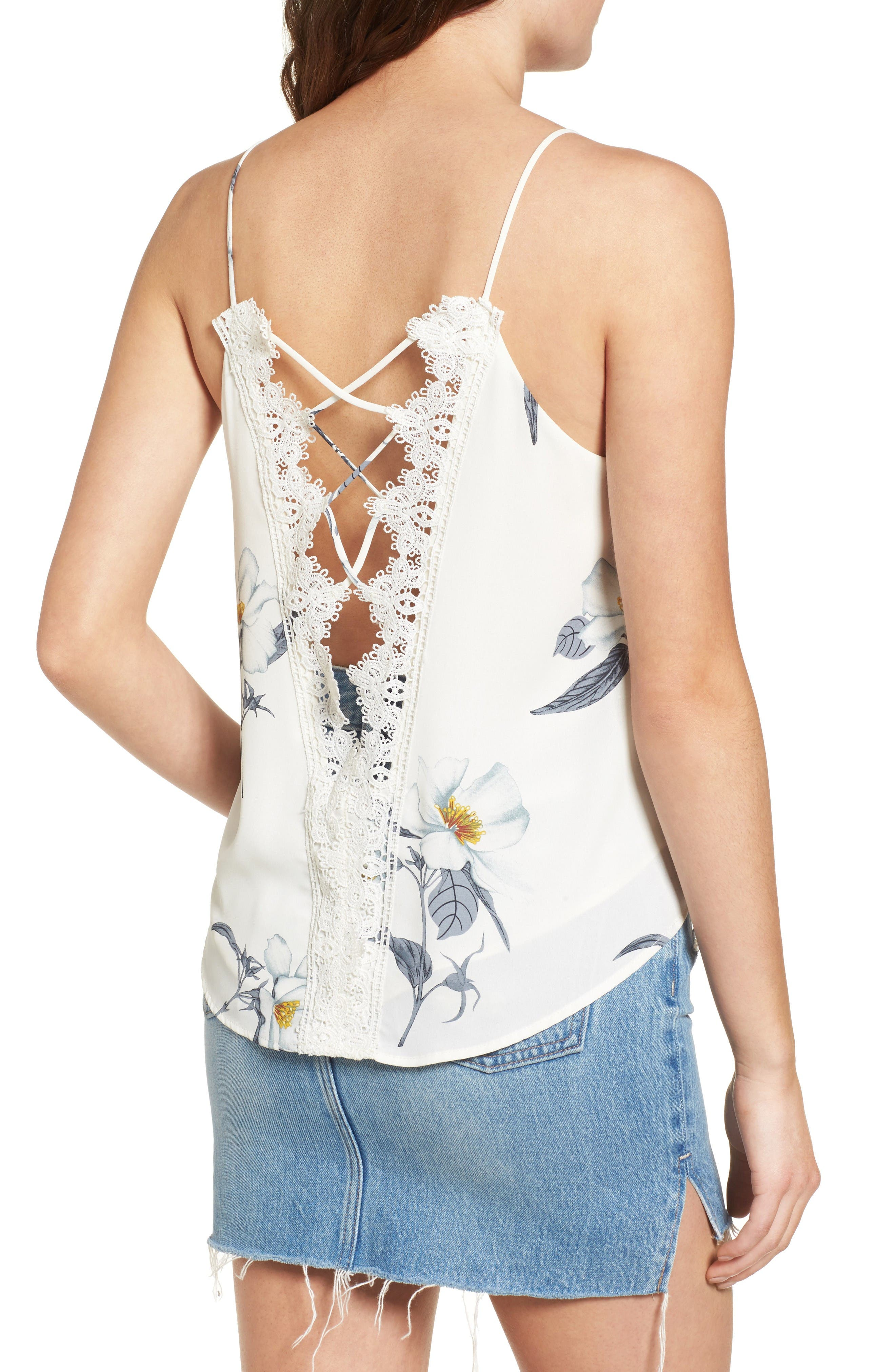 Alternate Image 2  - ASTR the Label Lace-Up Camisole