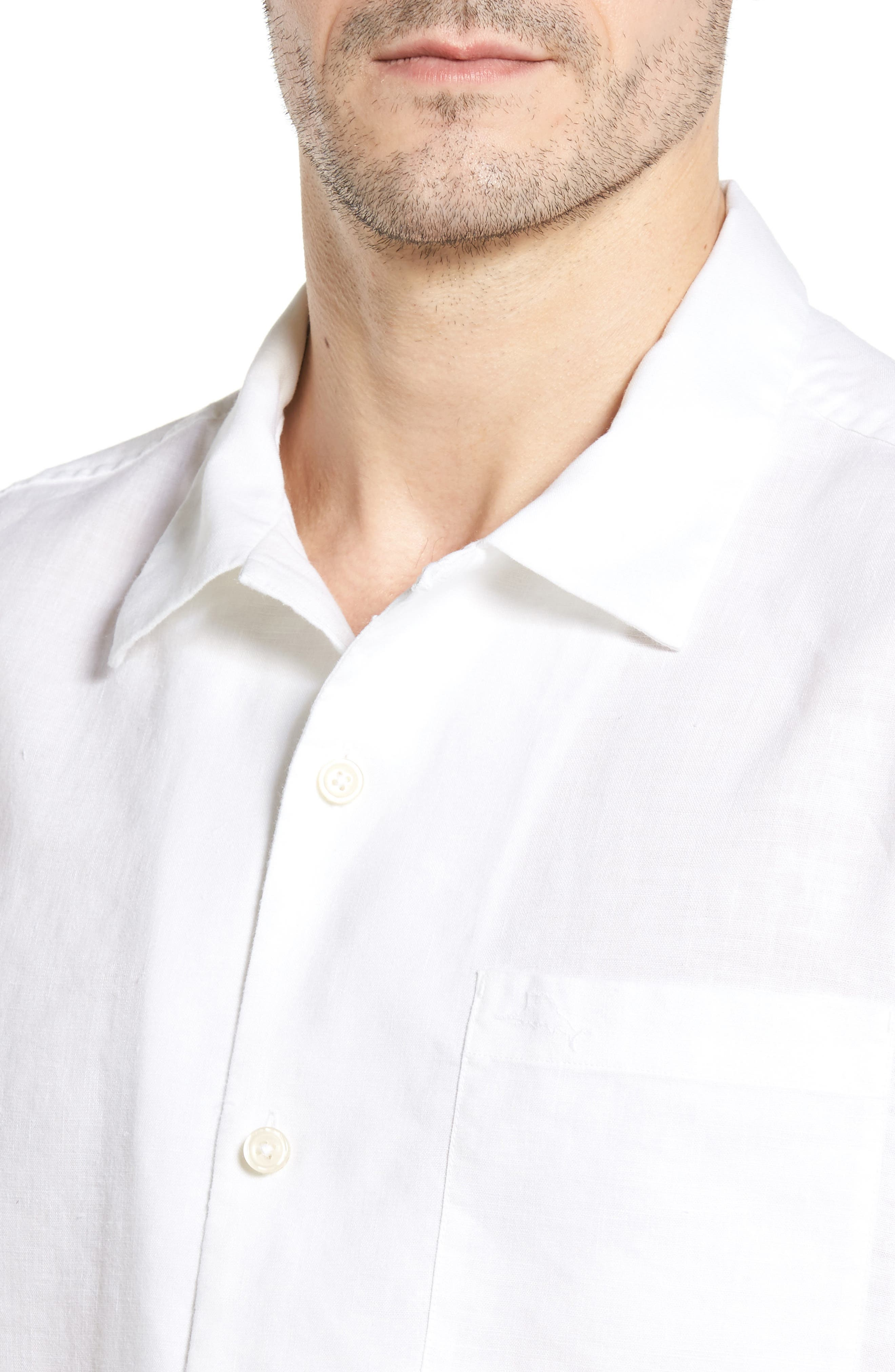 Alternate Image 4  - Tommy Bahama Monaco Tides Linen Blend Camp Shirt