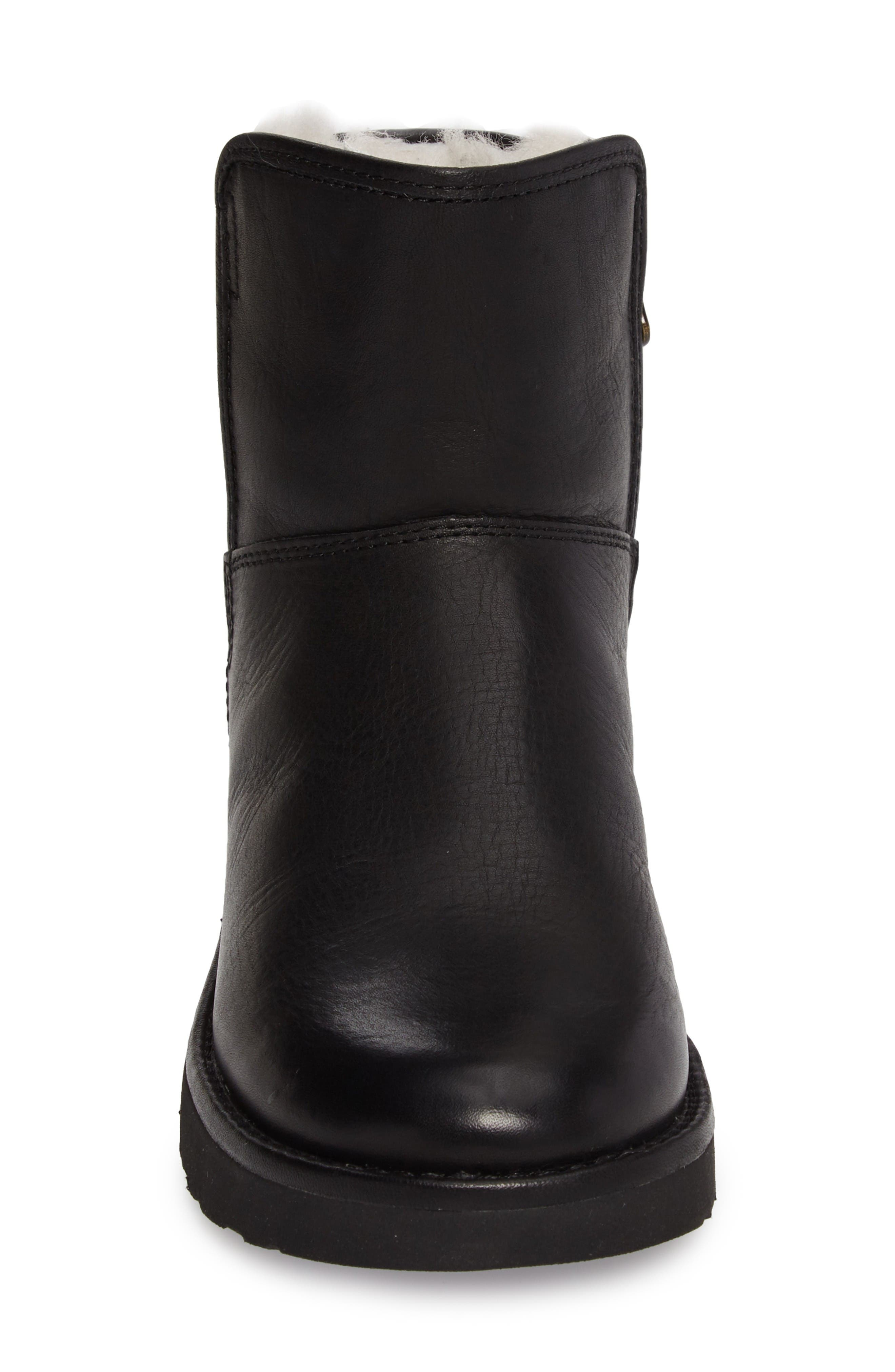 Abree Mini Boot,                             Alternate thumbnail 3, color,                             Black Leather