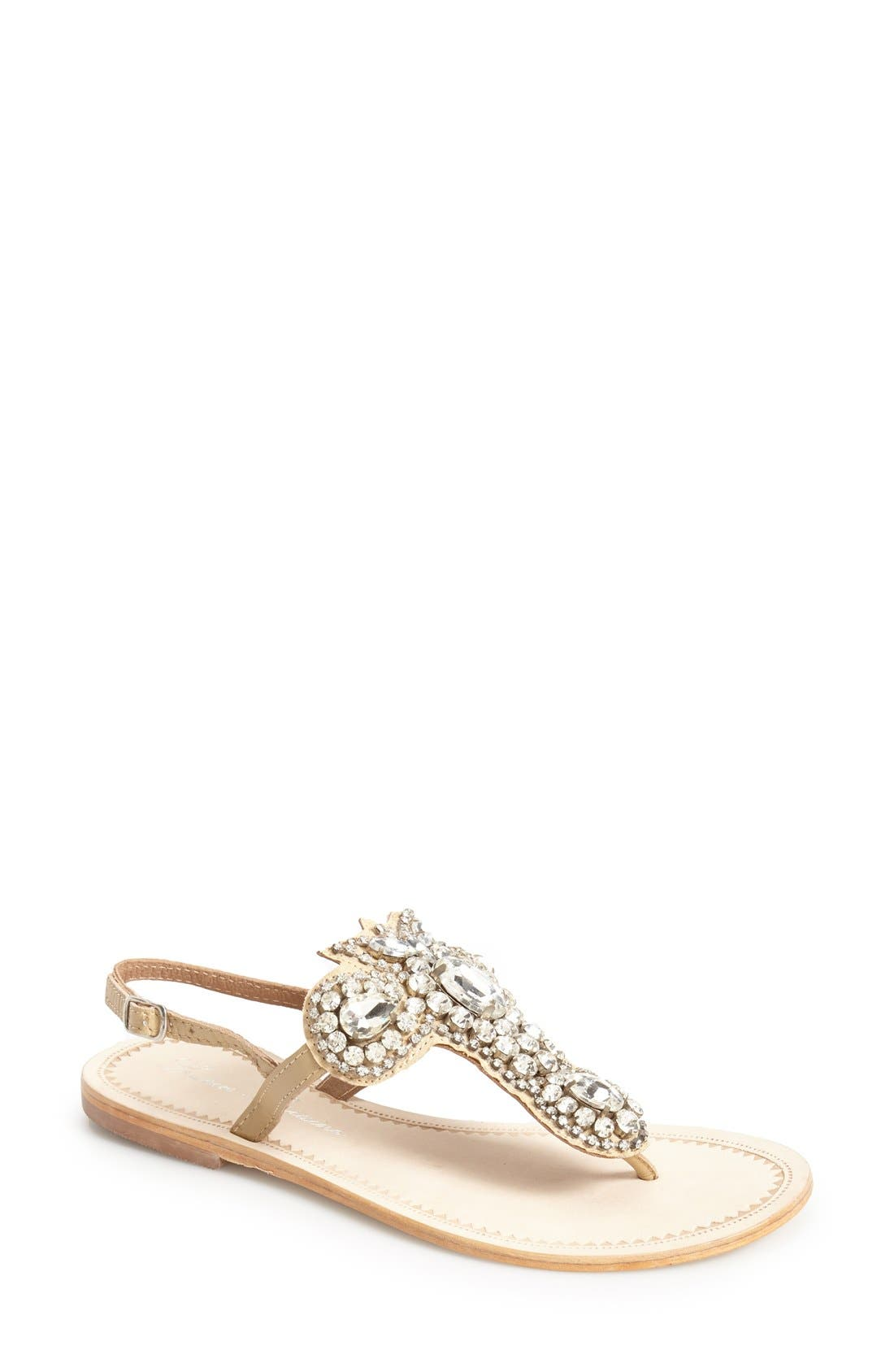 Alternate Image 1 Selected - Lauren Lorraine 'Ibiza' Crystal Thong Sandal (Women)
