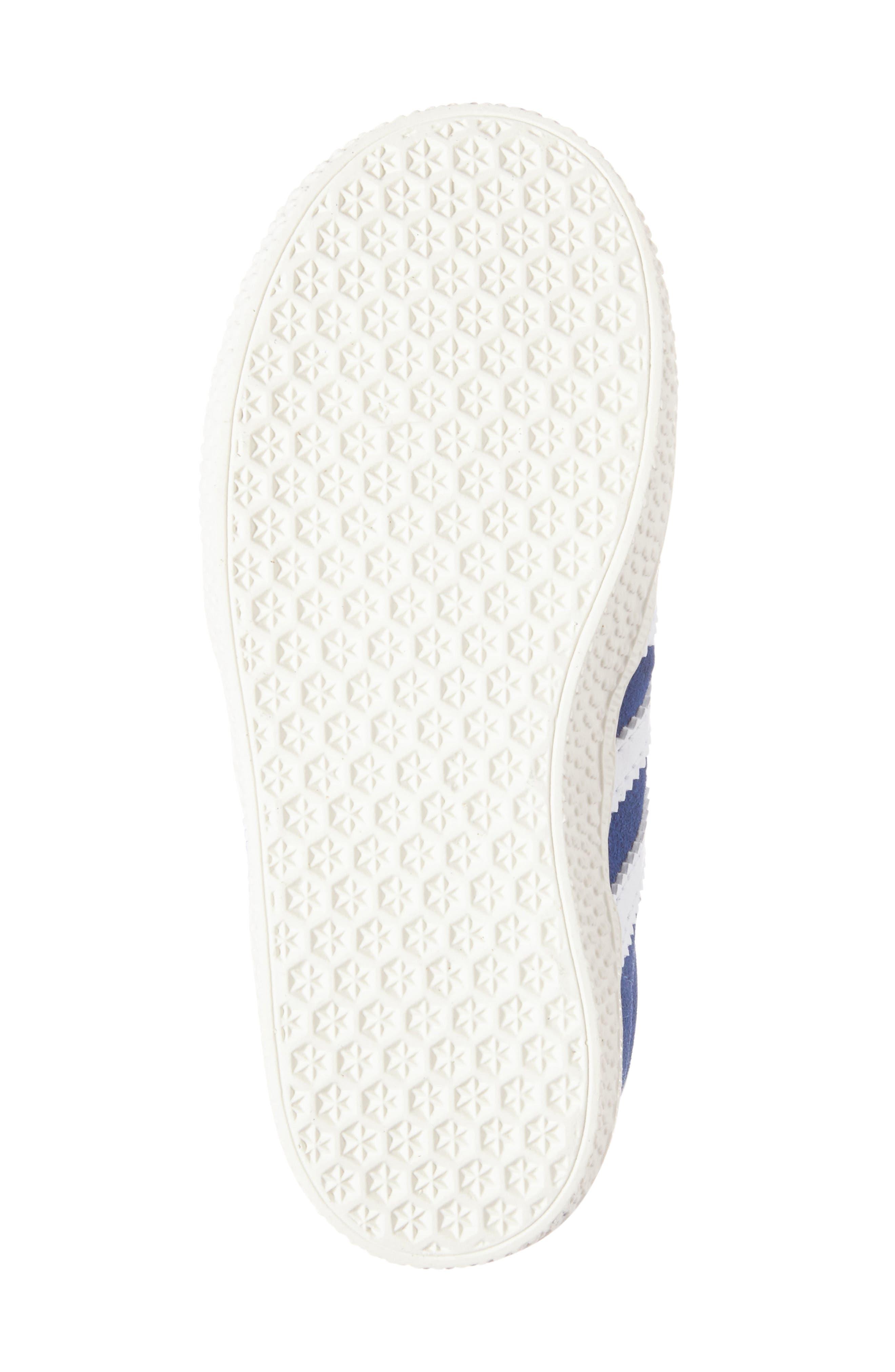 Gazelle Sneaker,                             Alternate thumbnail 6, color,                             Blue/ White/ Gold Metallic