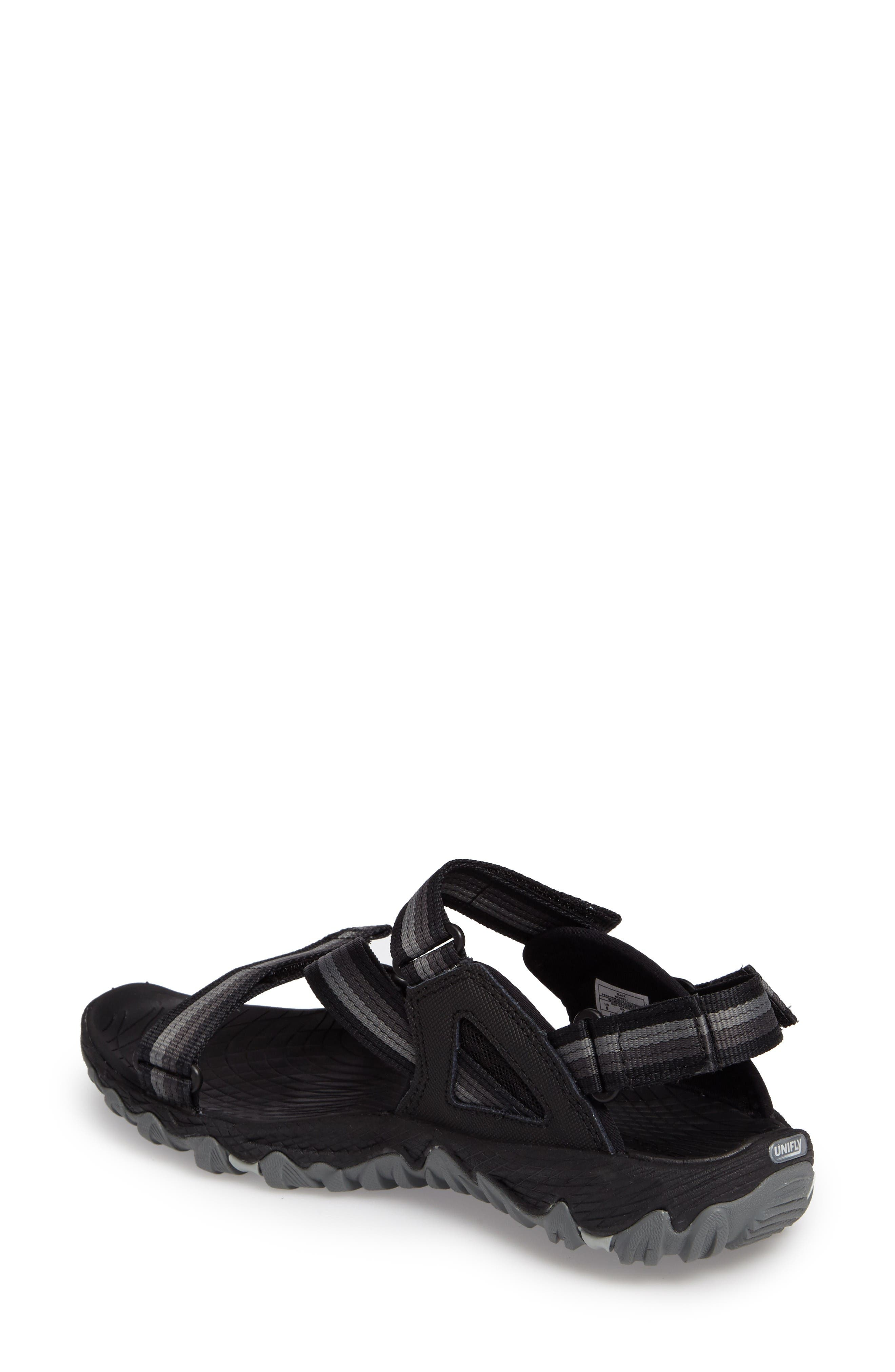 All Out Blaze Sport Sandal,                             Alternate thumbnail 2, color,                             Black Fabric