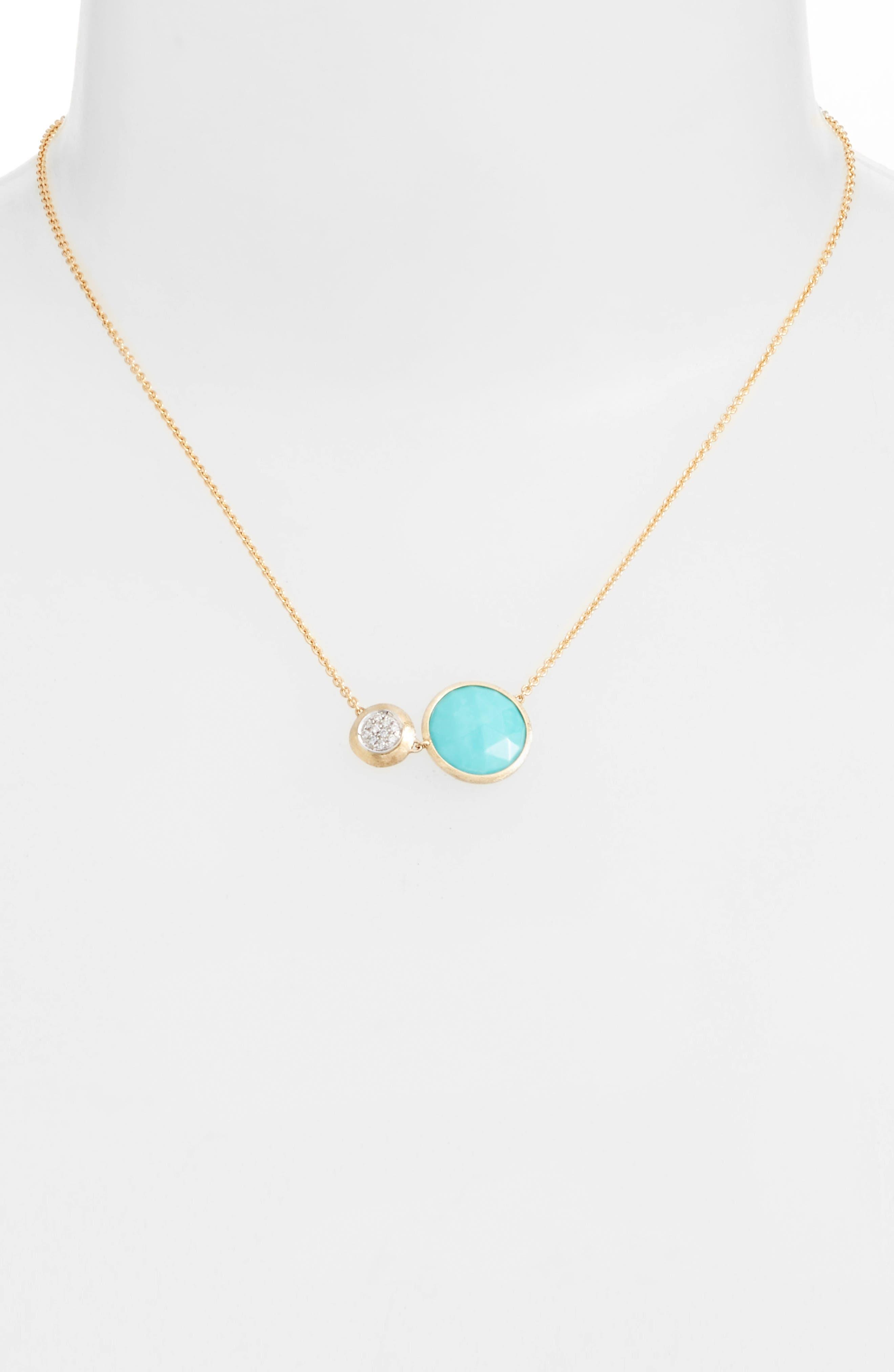 Alternate Image 2  - Marco Bicego Jaipur Turquoise & Diamond Pendant Necklace