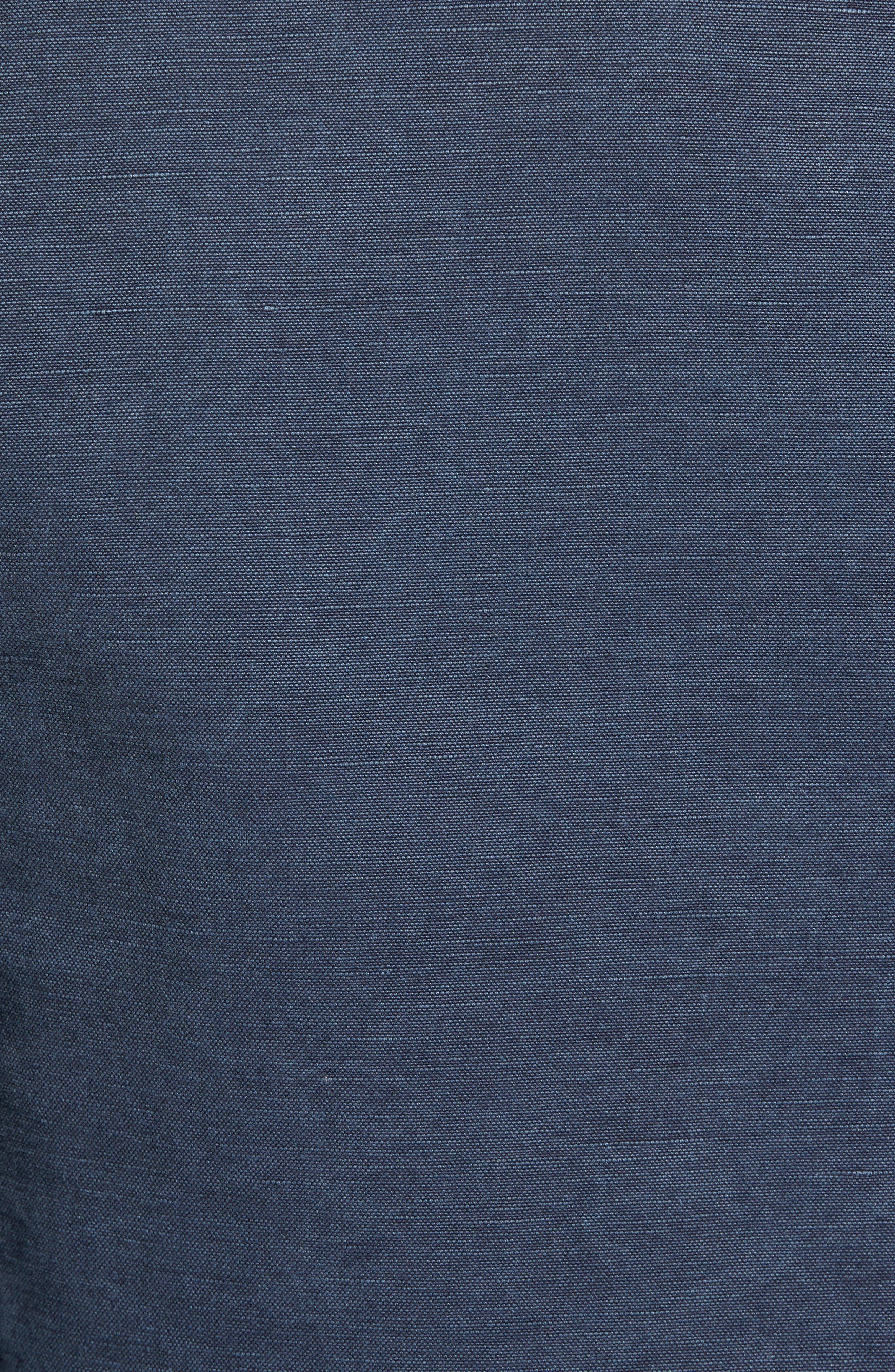 Trim Fit Cotton & Linen Blazer,                             Alternate thumbnail 5, color,                             Navy