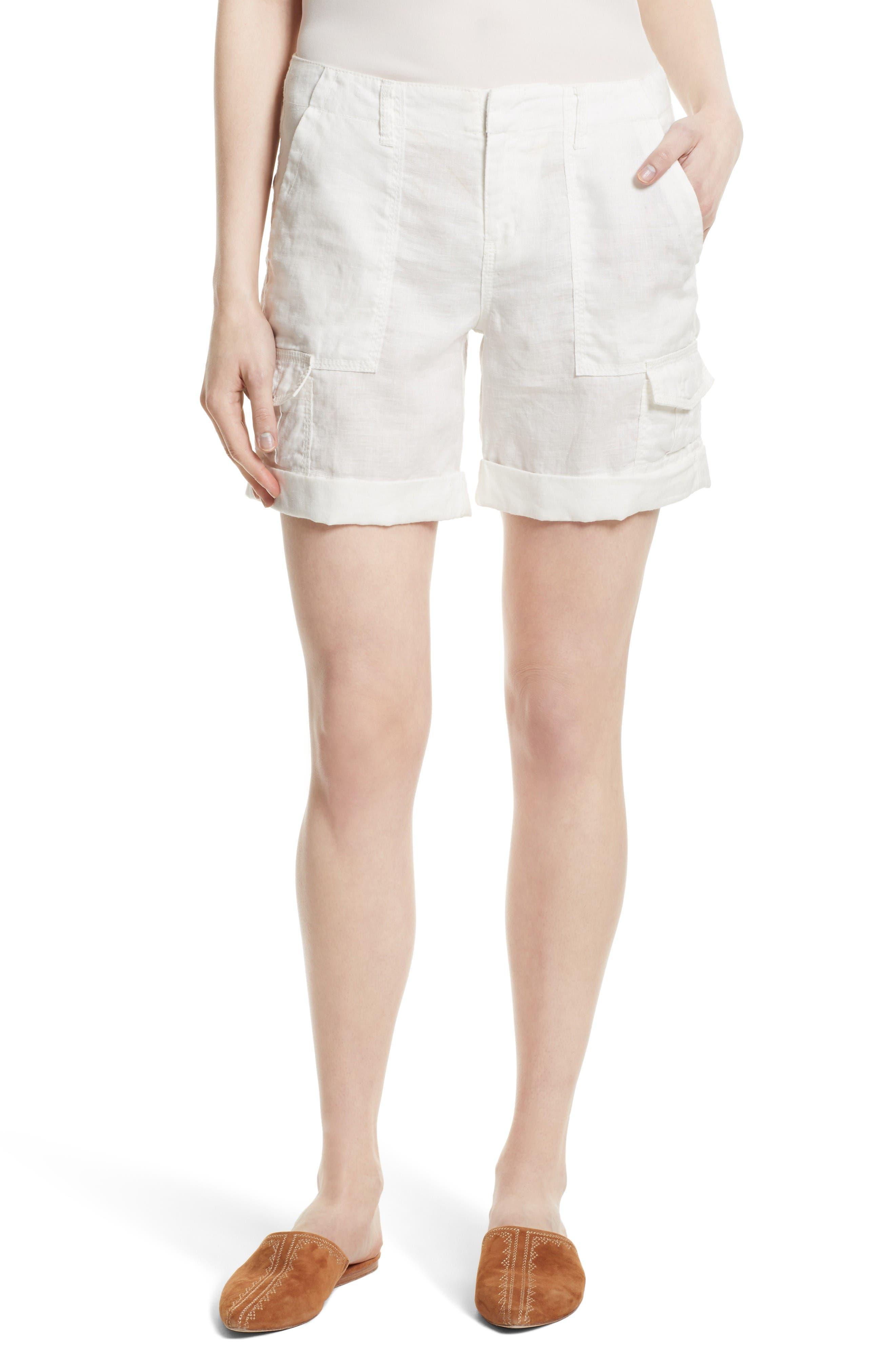 JOIE Aubeline Linen Cargo Shorts
