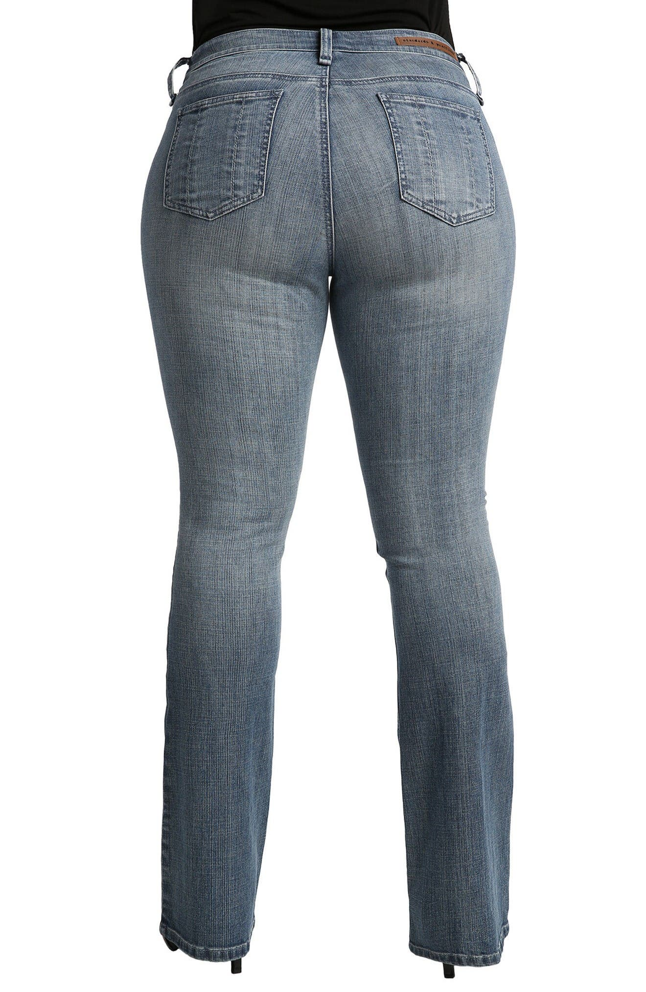 Alternate Image 2  - Standards & Practices Clarice Uptown Mid Rise Bootcut Jeans (Plus Size)
